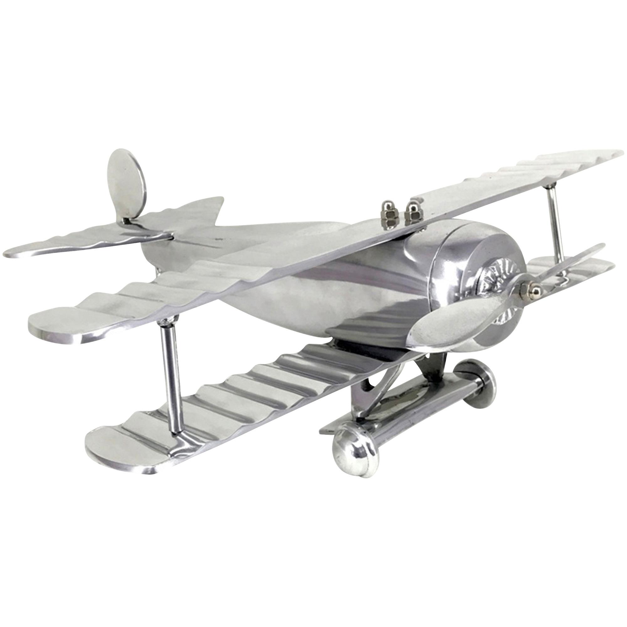 Sagebrook | Heartland Home Silver Biplane