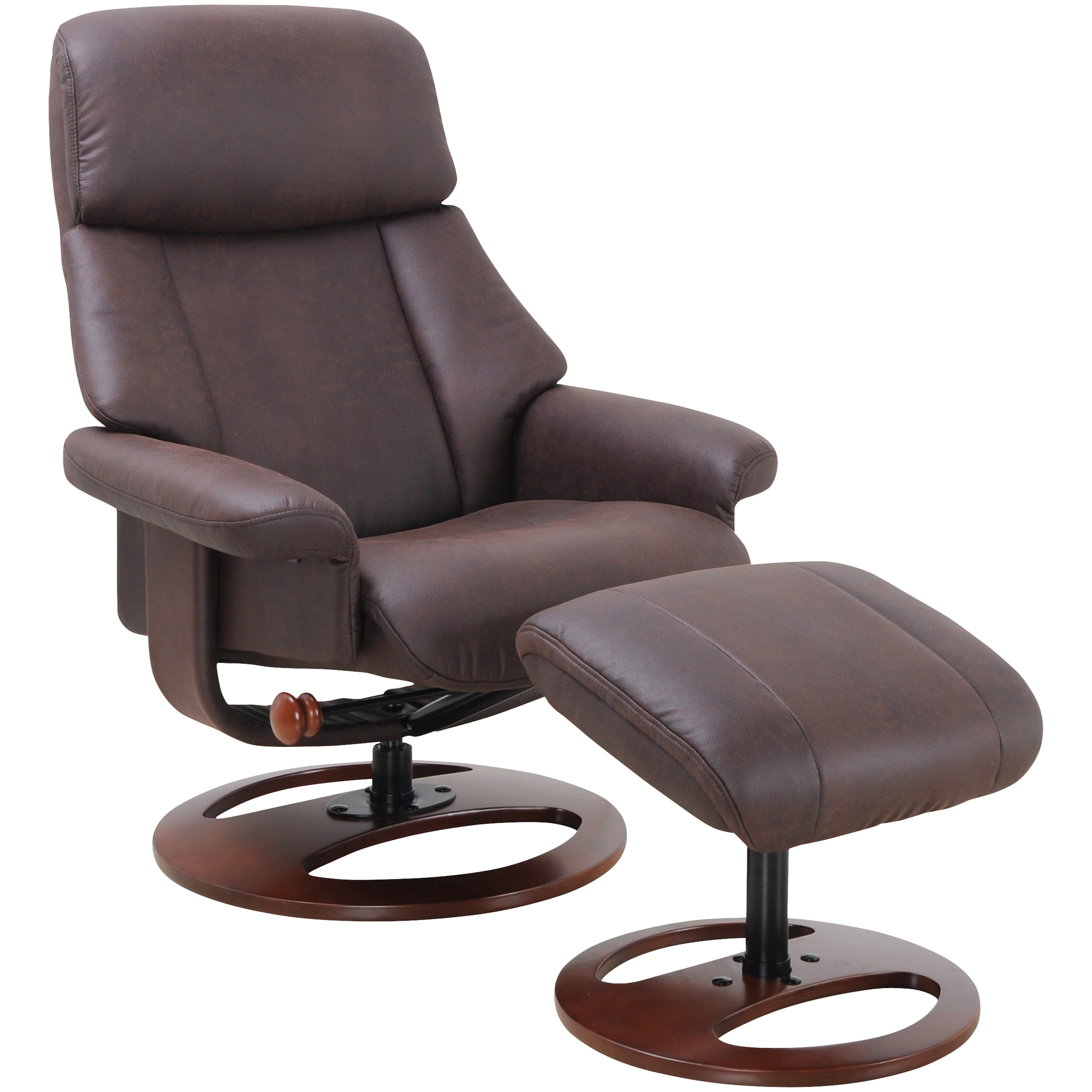 Benchmaster | Heritage II Brown Recliner Chair with Ottoman