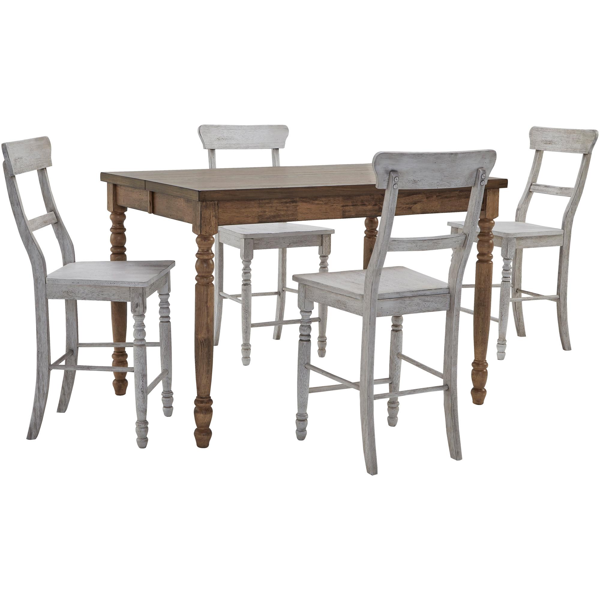 Progressive Furniture Inc. | Savannah Court Antique Oak and White 5 Piece Counter Dining Set