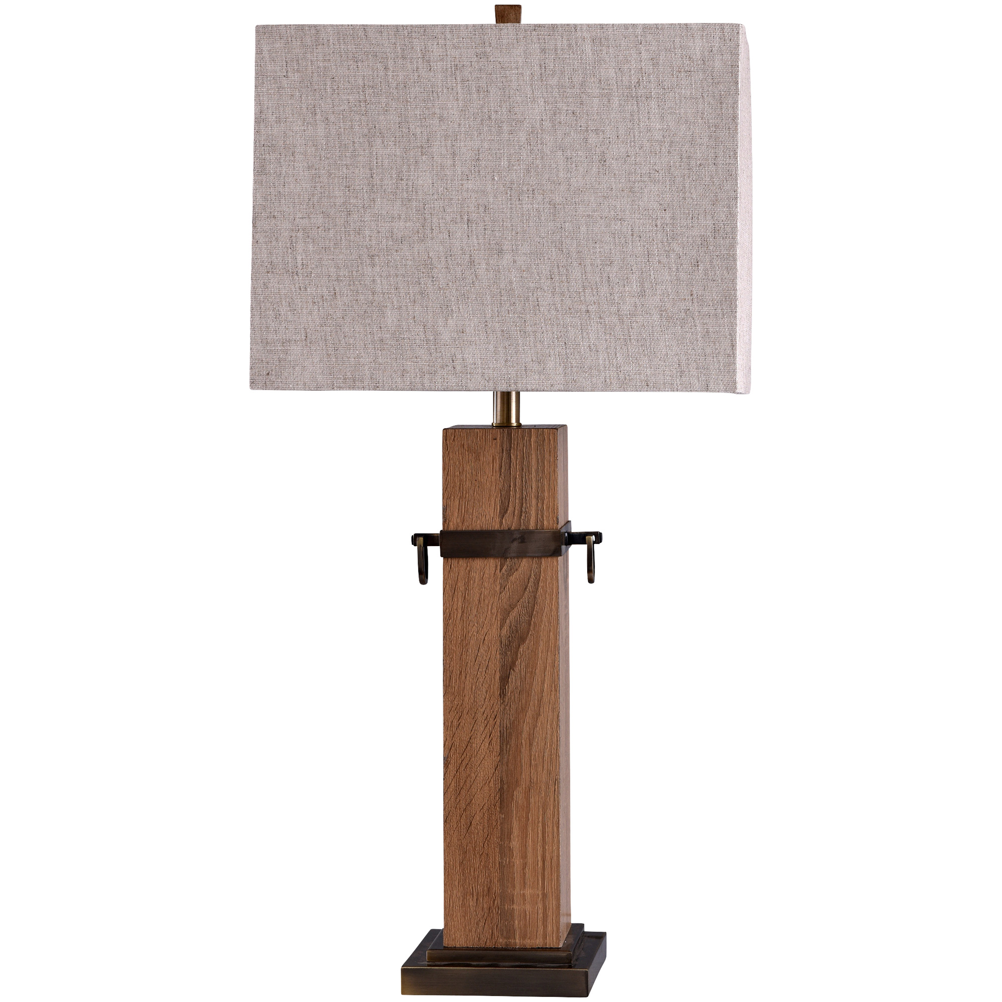 Stylecraft Home Collection | Cordia Brown Wood Table Lamp