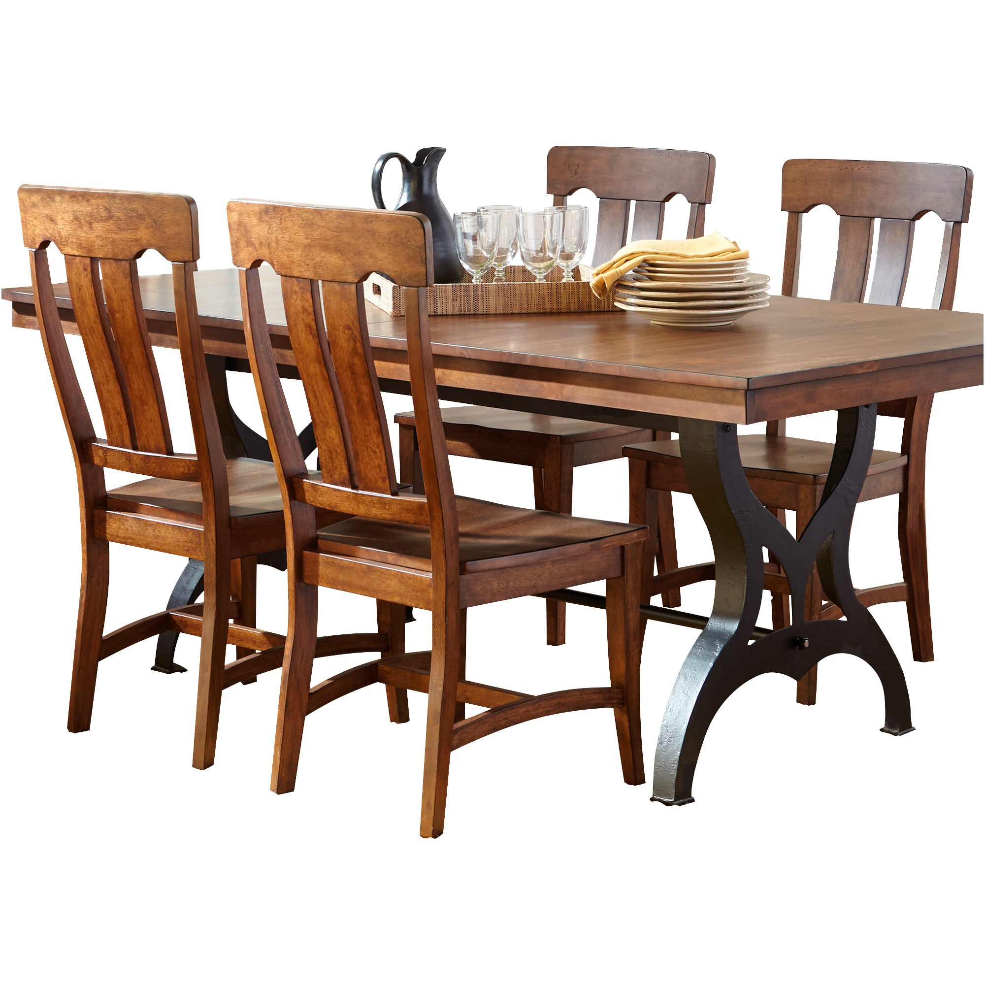 Intercon | District Copper 5 Piece Counter Dining Set