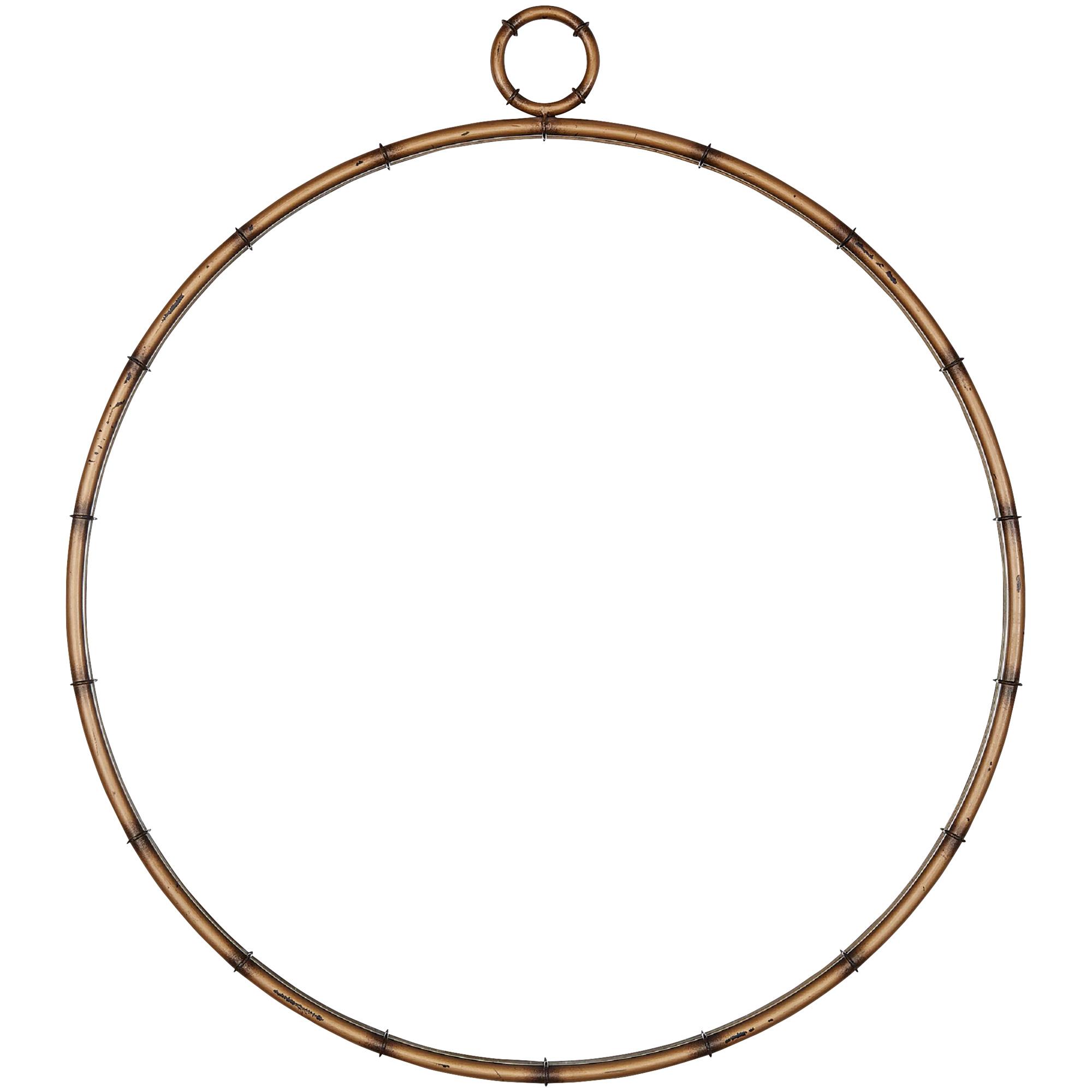 Home Elegance | Battalion Round Brass Wall Mirror