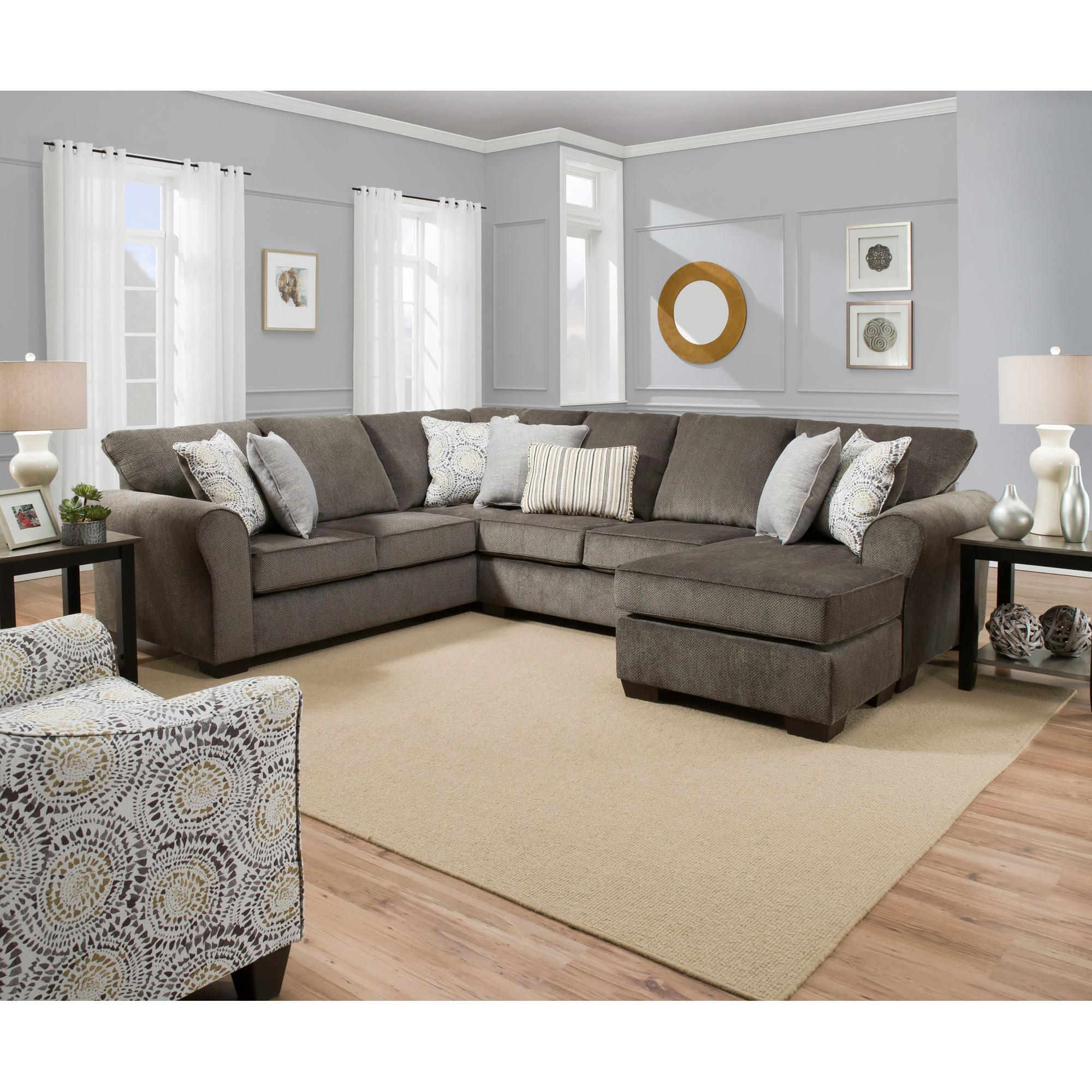 Lane Home Furnishings | Harris Ash 2 Piece Chaise Sectional Sofa