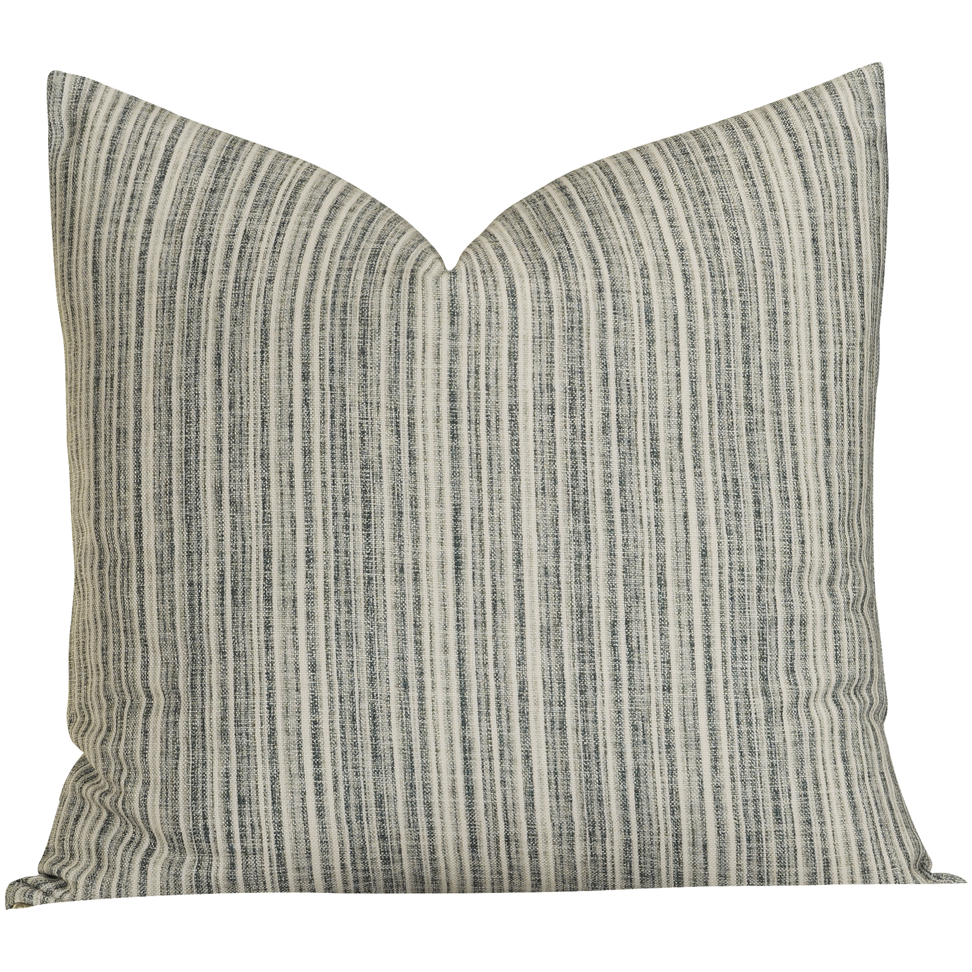 Sis Enterprises | Bungalow Stripe Slate Euro Pillow