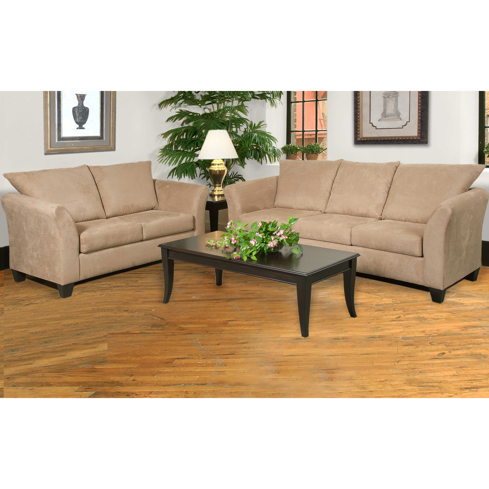 Serta Upholstery By Hughes Furniture | Buster Mocha Loveseat Sofa