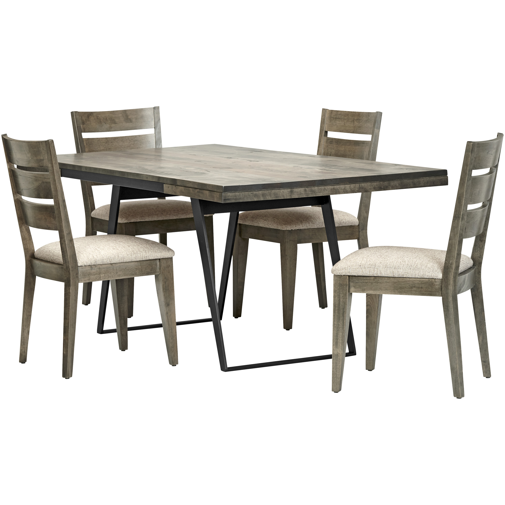 Canadel Furniture | Uptown Gray 5 Piece Ladder Back Dining Set