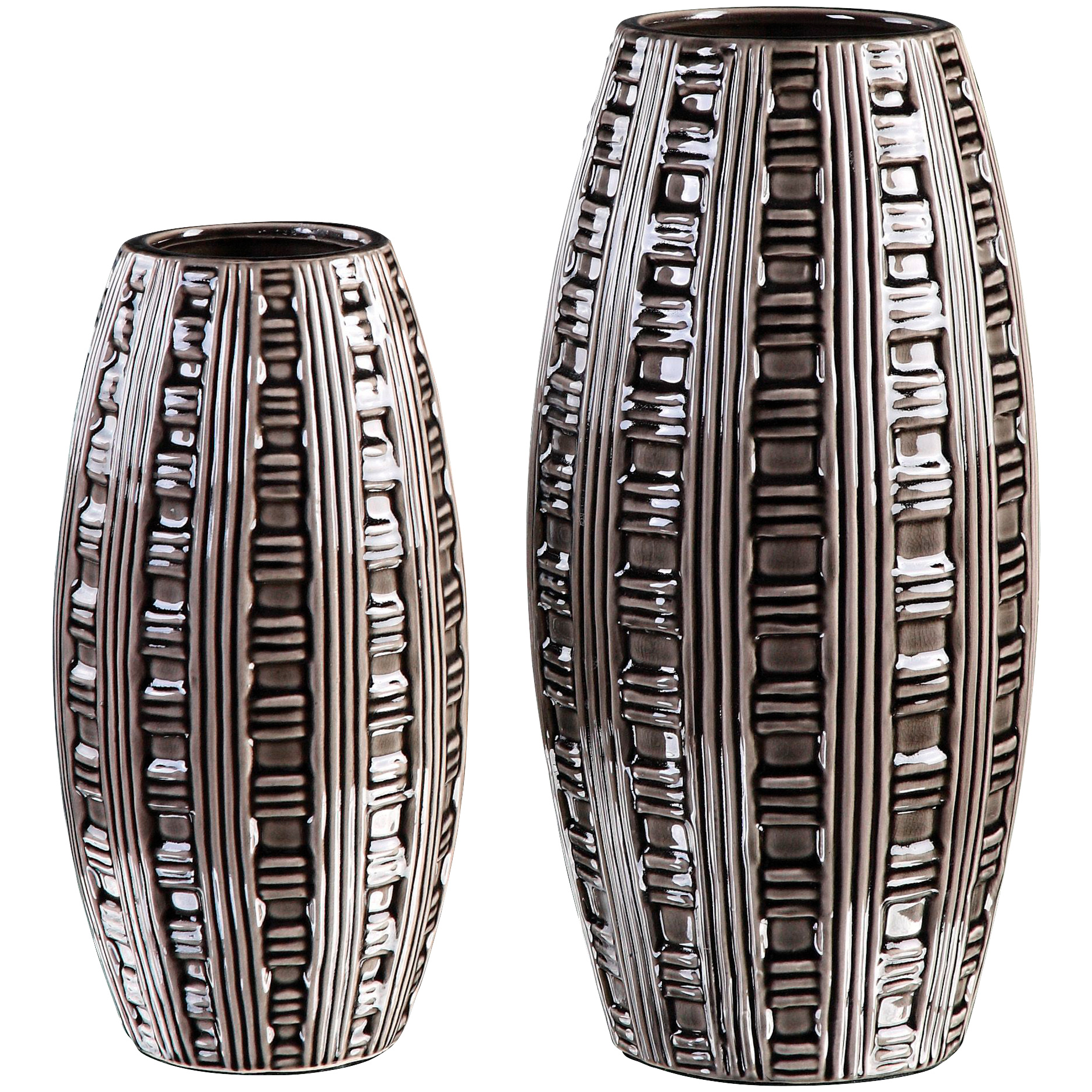 Uttermost | Aura Set of 2 Weave Pattern Vases | Black