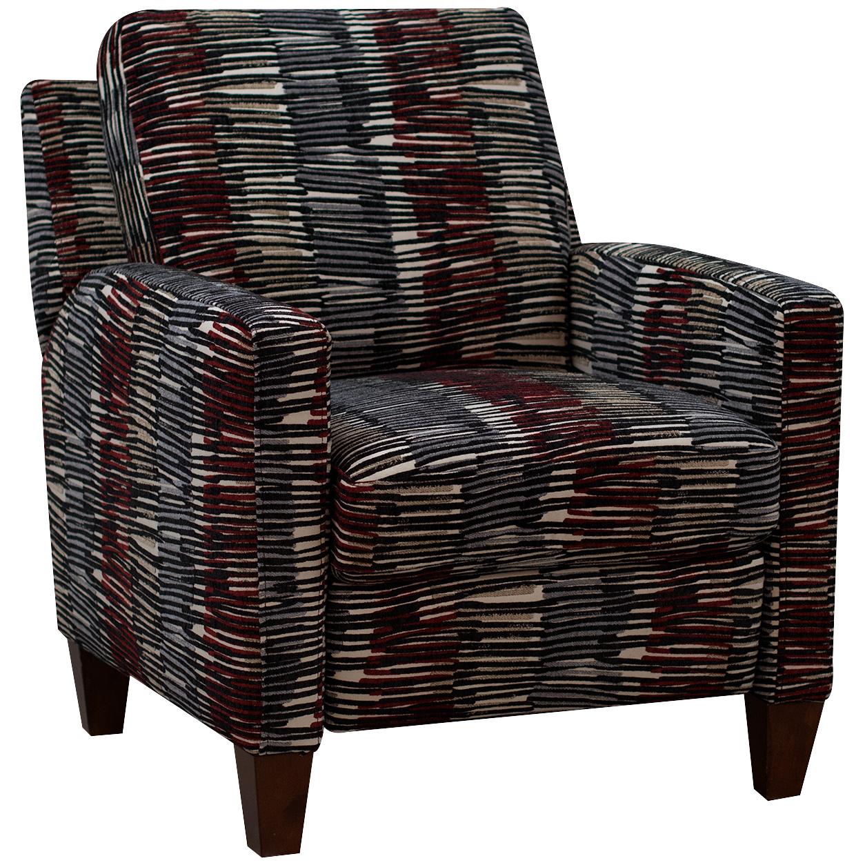 Dimensions By England   Bossa Nova Multicolored High Leg Recliner Chair