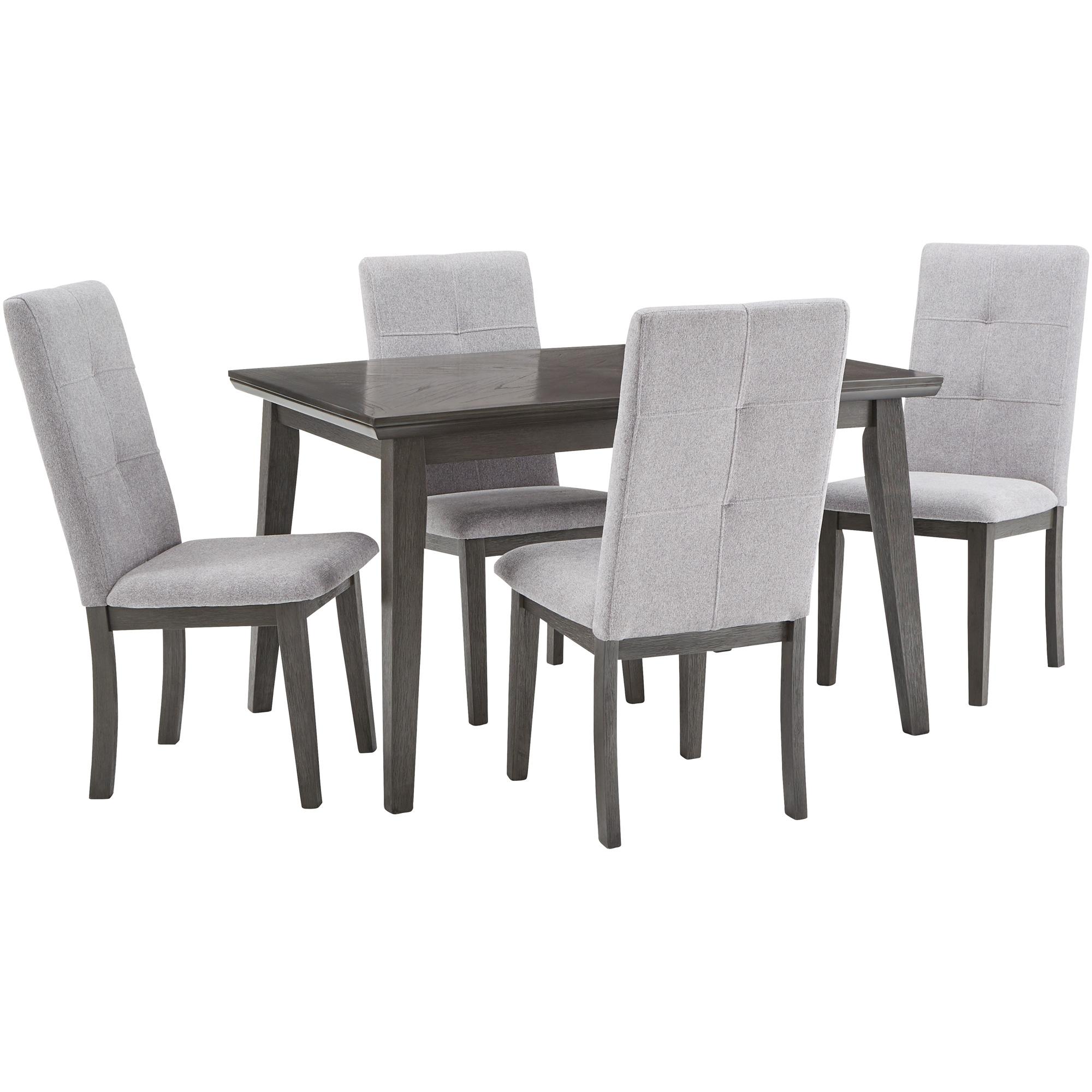 Home Elegance | City Line Gray 5 Piece Dining Set