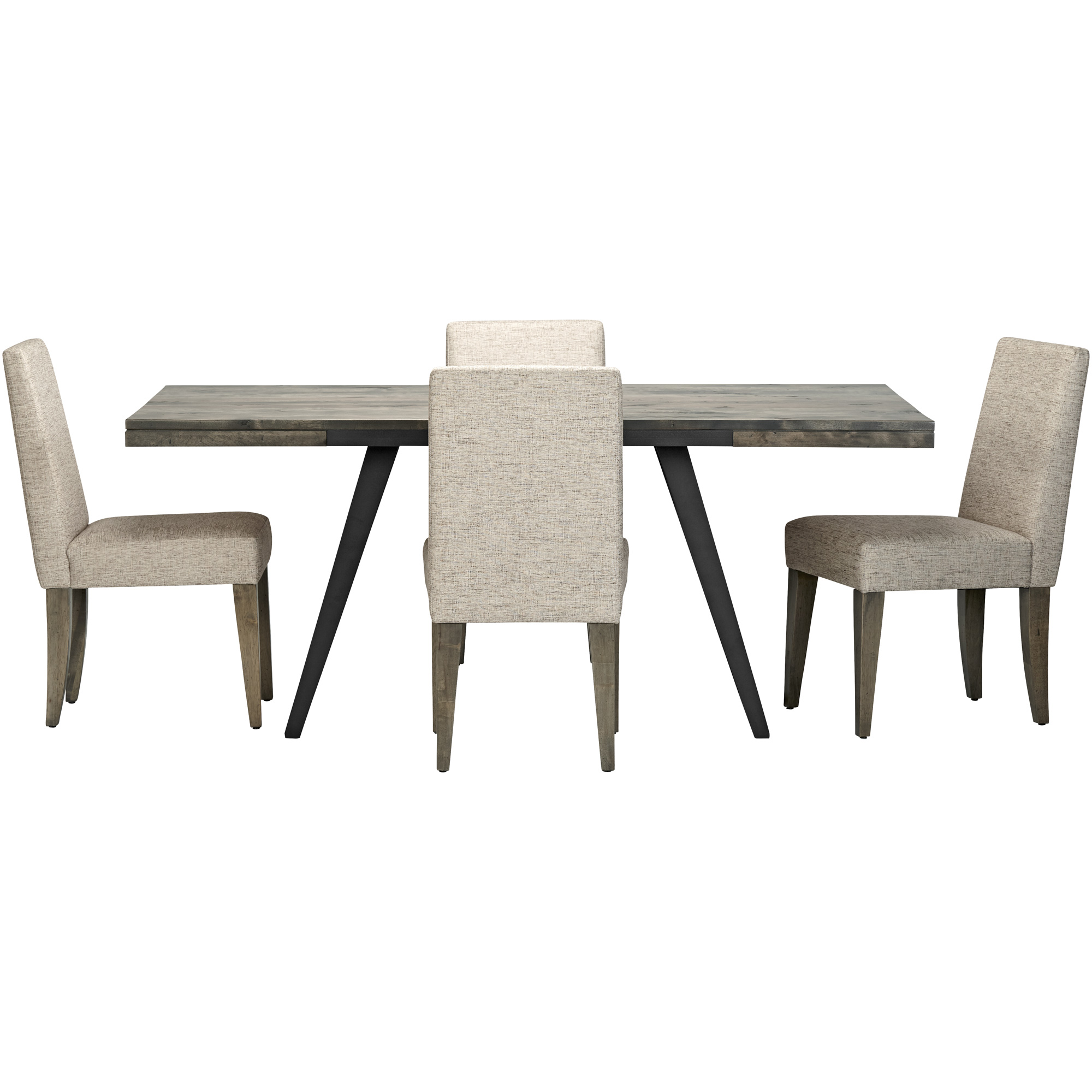 Canadel Furniture | Uptown Gray 5 Piece Upholstered Dining Set
