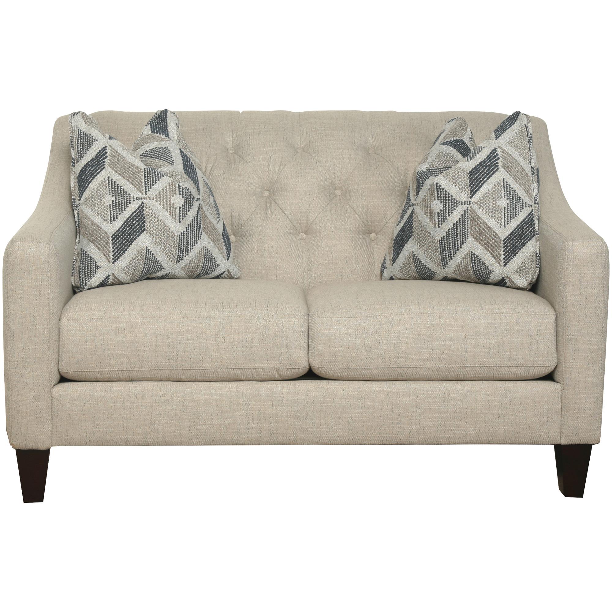 Bauhaus Furniture   Solo Burlap Loveseat Sofa