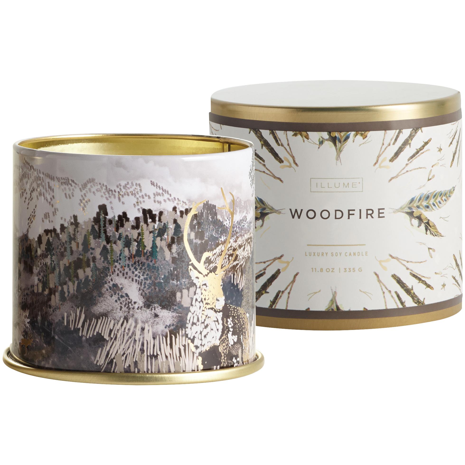 Illume | Noble Holiday Woodfire Vanity Tin Candle