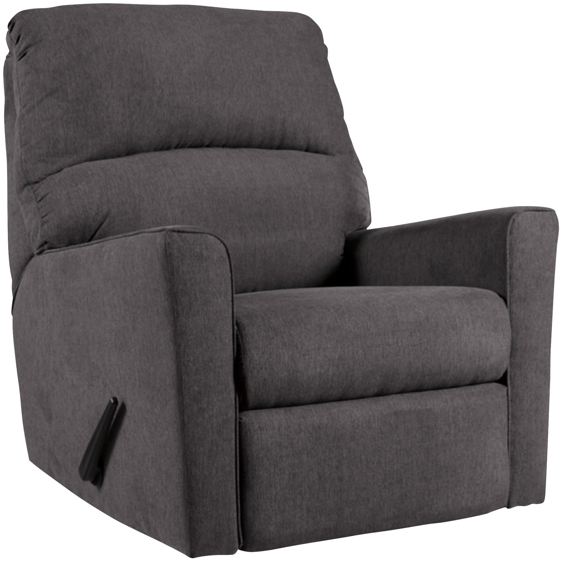 Ashley Furniture | Alenya Charcoal Rocker Recliner Chair