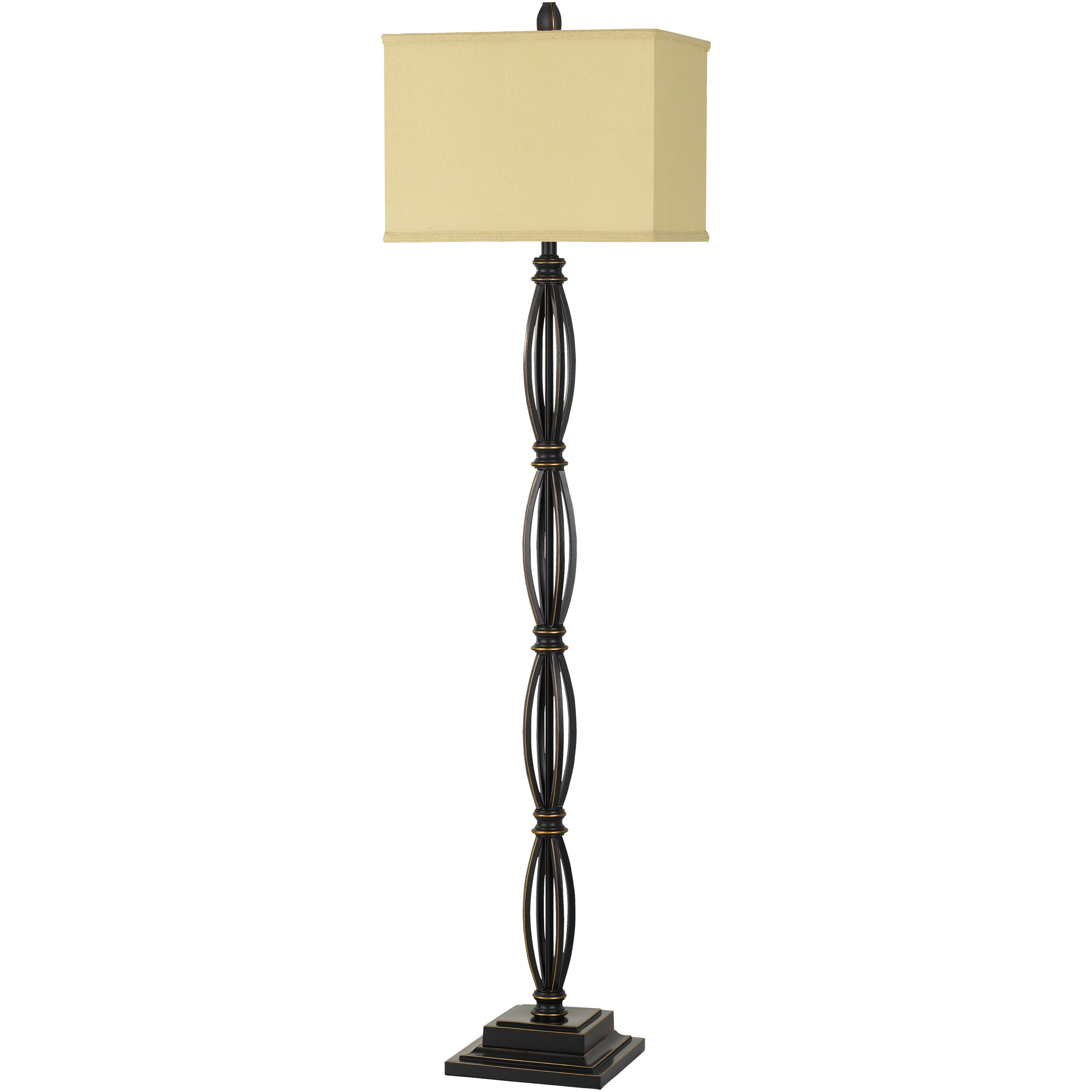 Cal Lighting | Mondovi Brown Floor Lamp