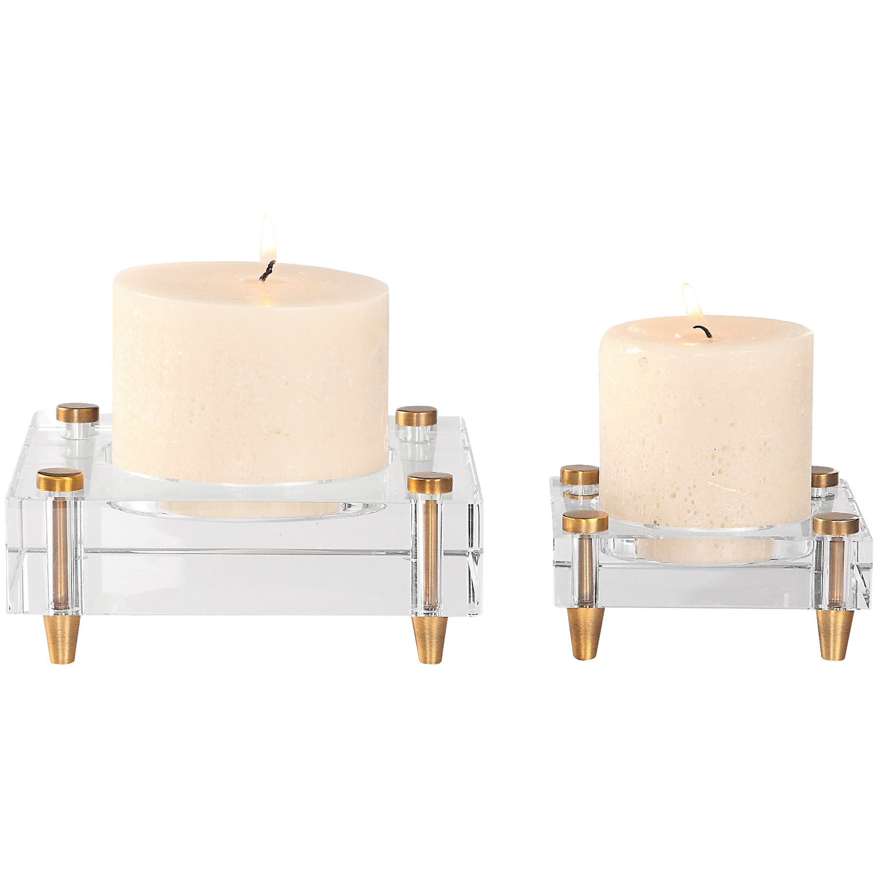 Uttermost | Claire Set of 2 Crystal Block Candle Holders