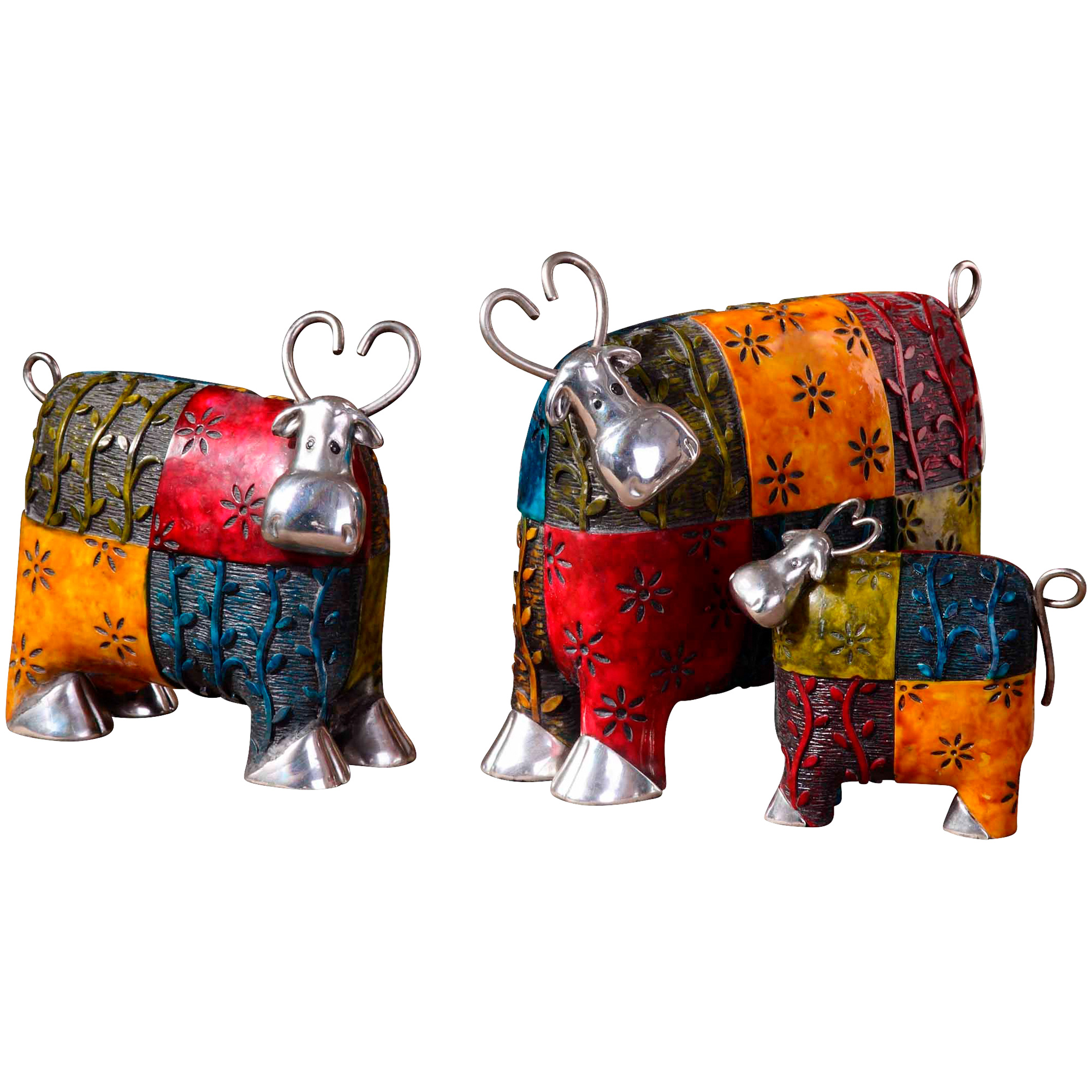Uttermost | Colorful Cows Figurines Set