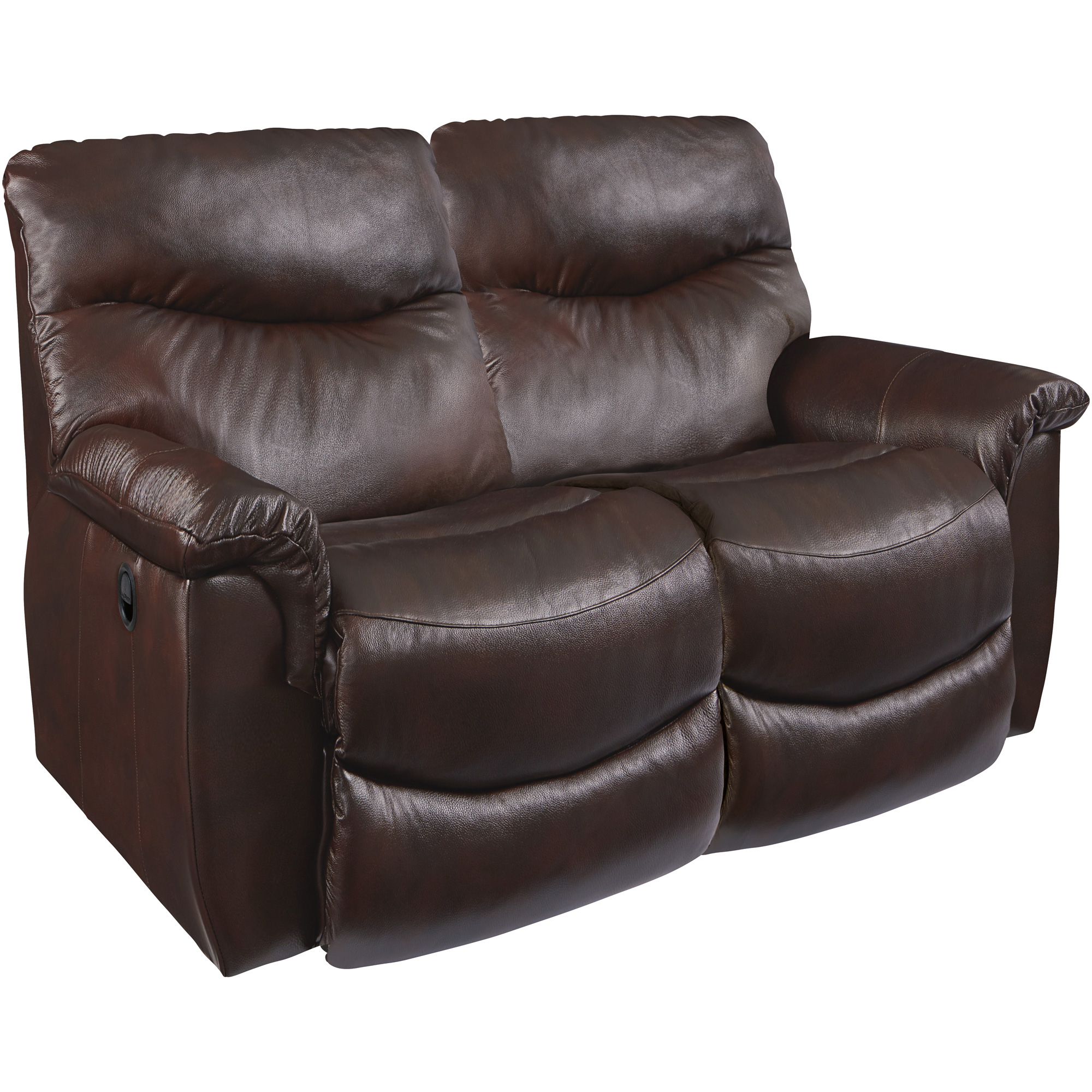 La-Z-Boy | James Leather Walnut Reclining Loveseat Sofa