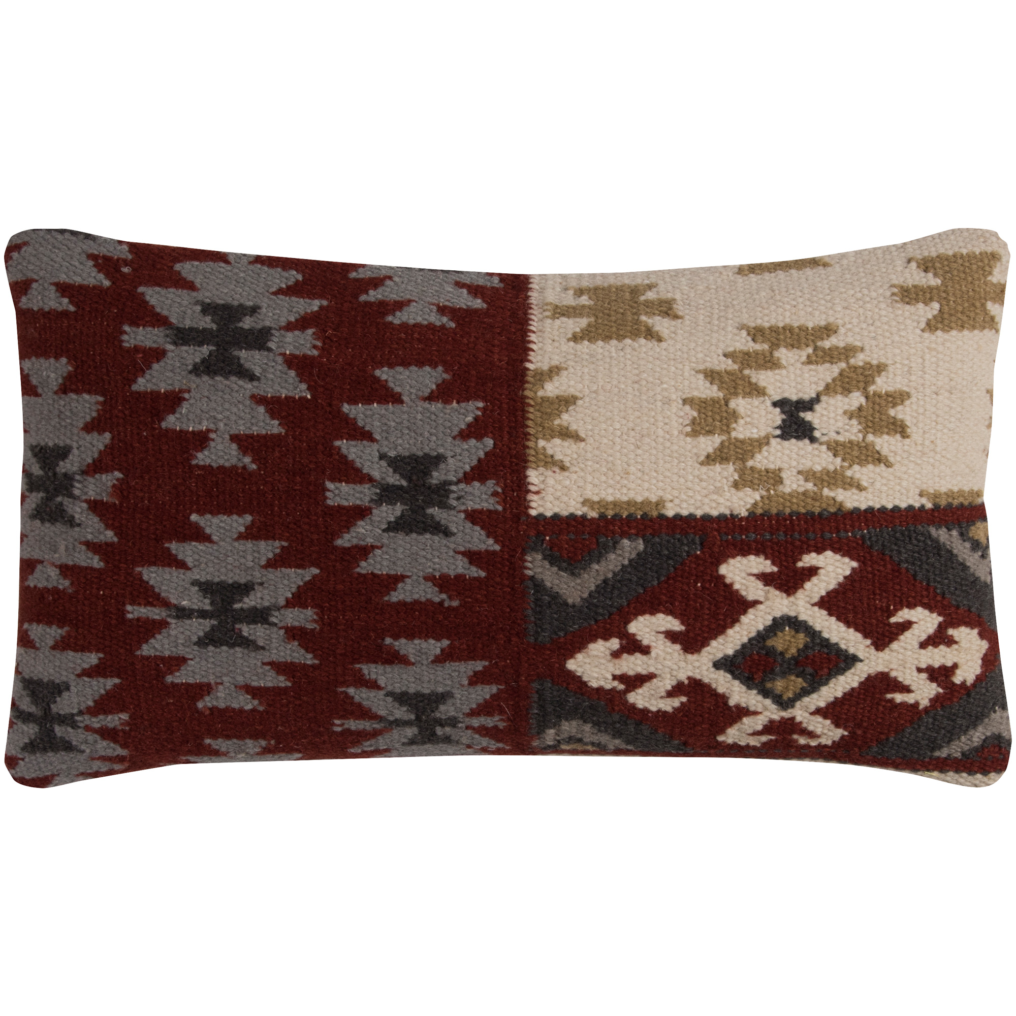 Rizzy Home | Aztec Mission Red Oblong Down Pillow