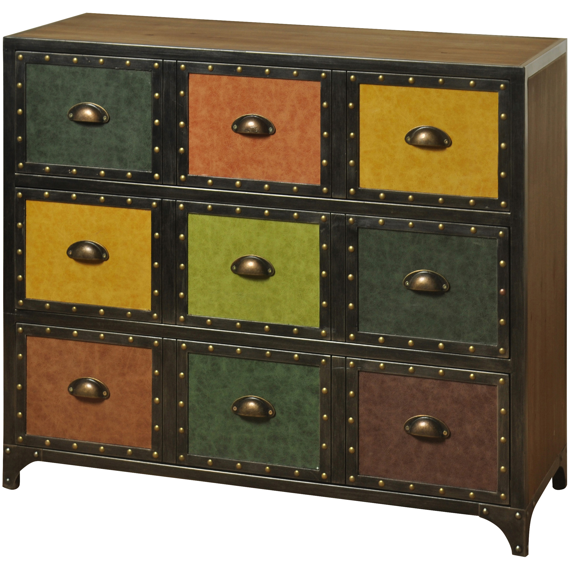 Stylecraft Home Collection | Delta Multi Color 3 Drawer Chest