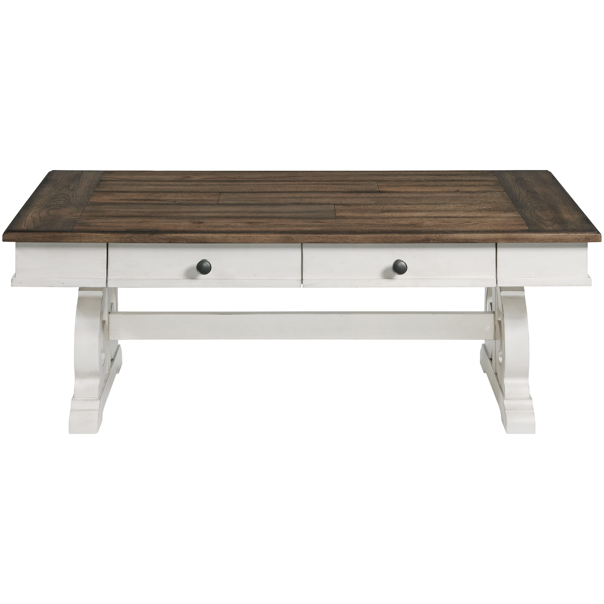 Intercon | Drake Rustic White and Stone Coffee Table