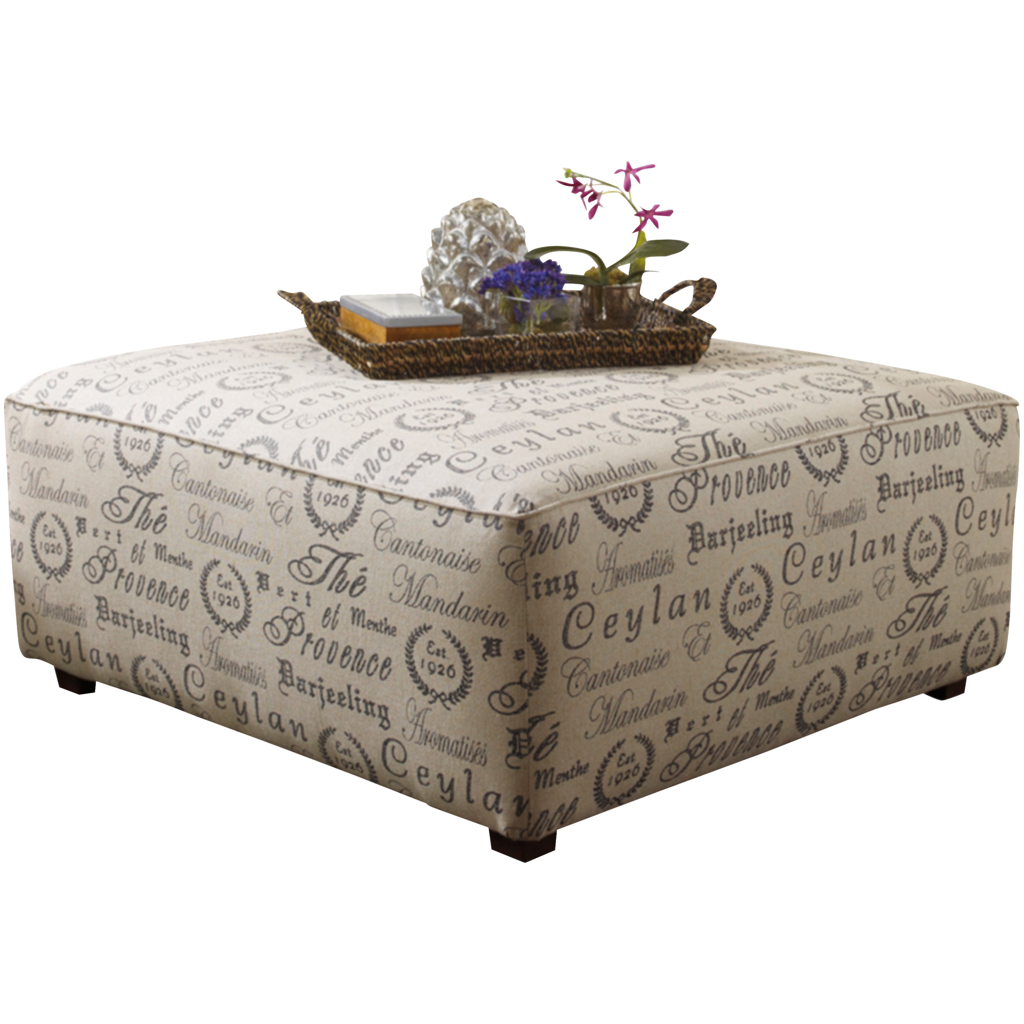 Ashley Furniture | Alenya Charcoal Accent Ottoman