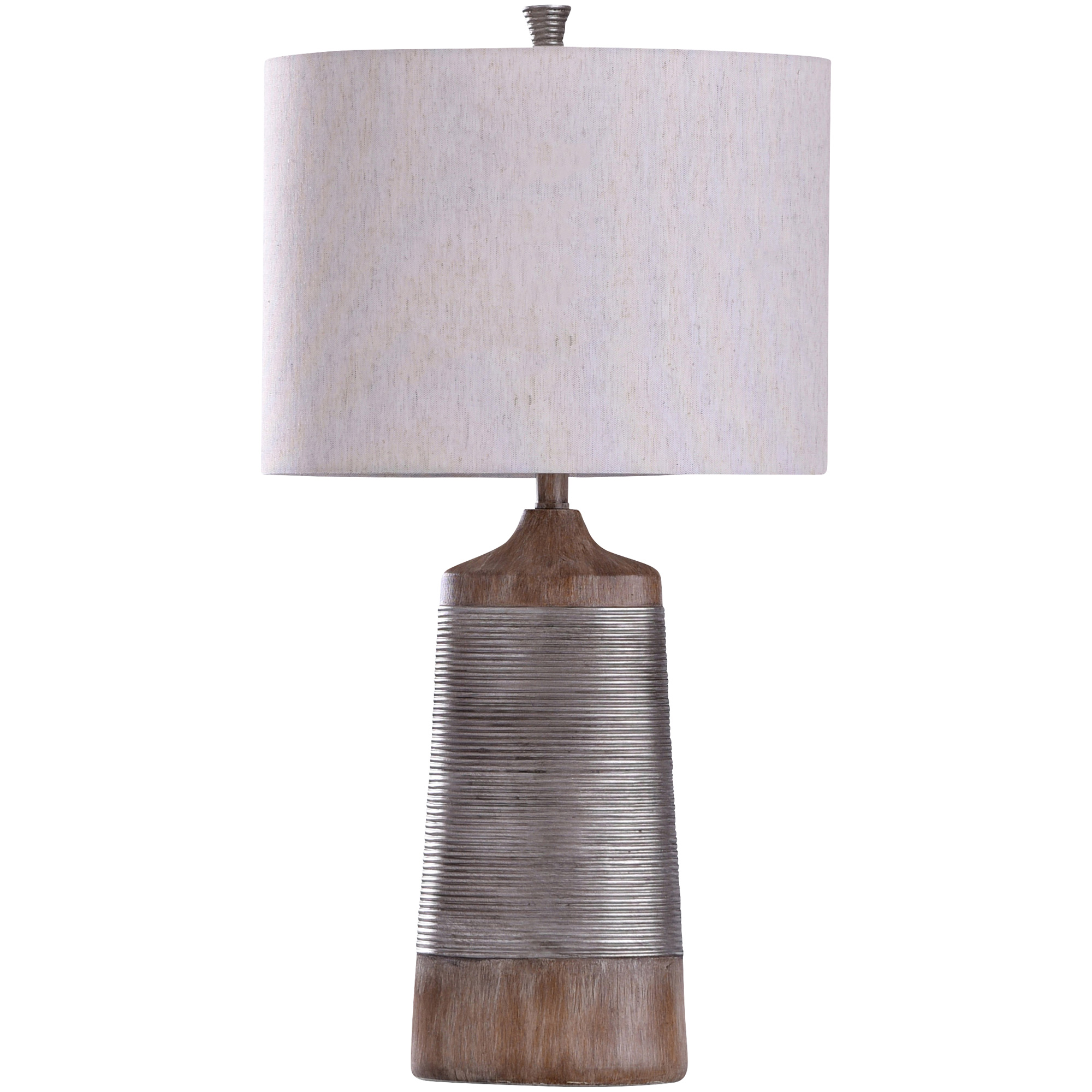 Stylecraft Home Collection | Haverhill Gray Oval Table Lamp