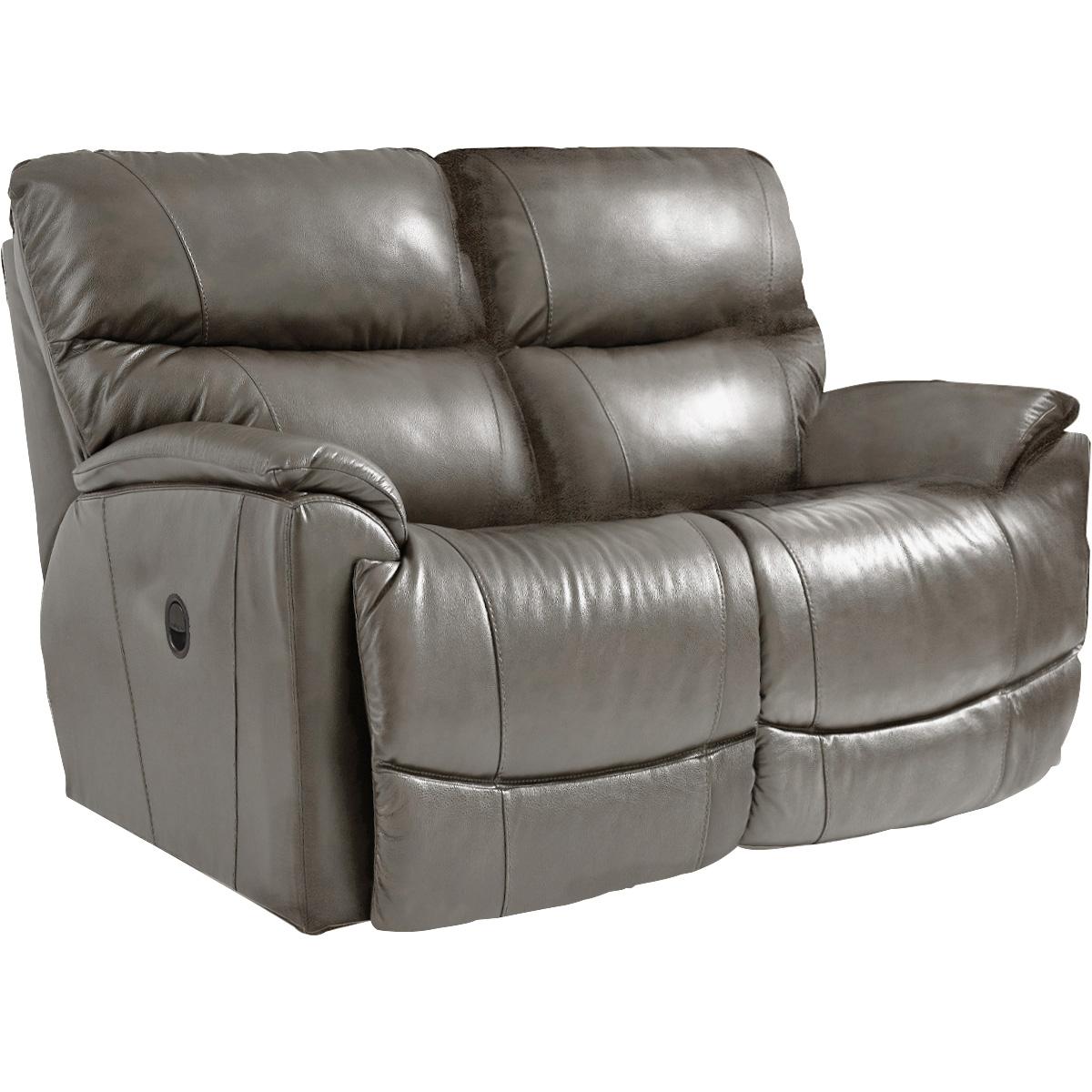 La-Z-Boy | Trouper Gray Leather Reclining Loveseat Sofa