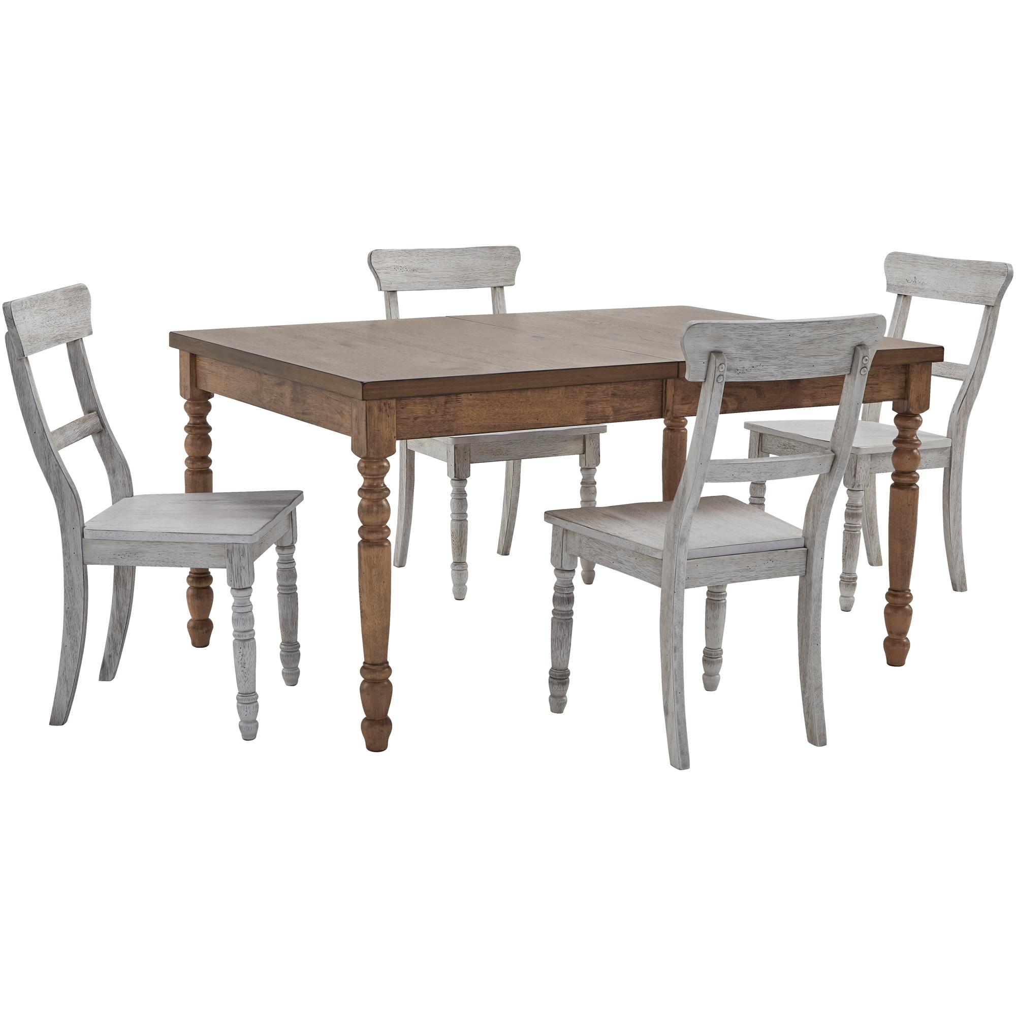 Progressive Furniture Inc. | Savannah Court Antique Oak and White 5 Piece Dining Set