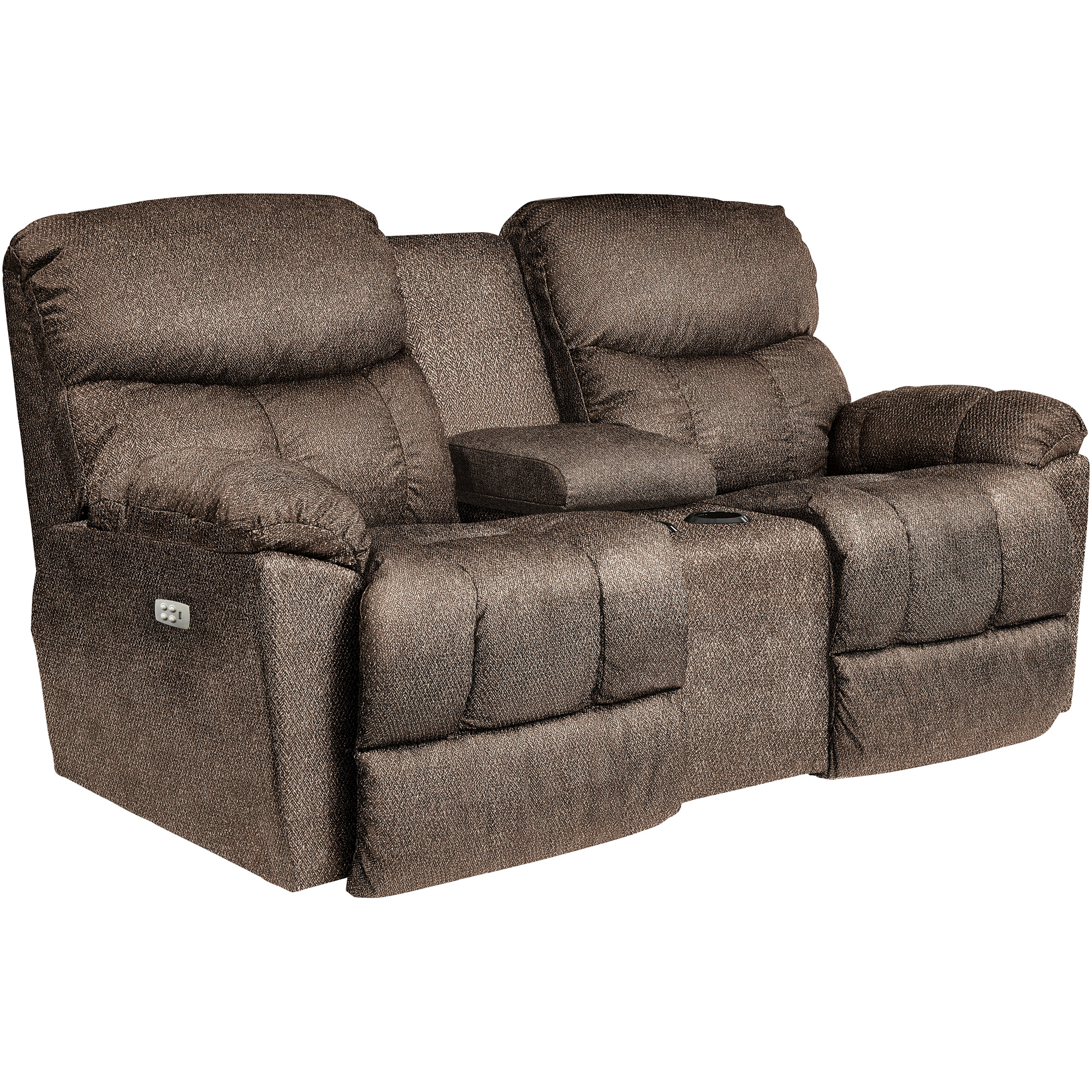 La-Z-Boy | Morrison Cappuccino Power Plus Reclining Console Loveseat Sofa