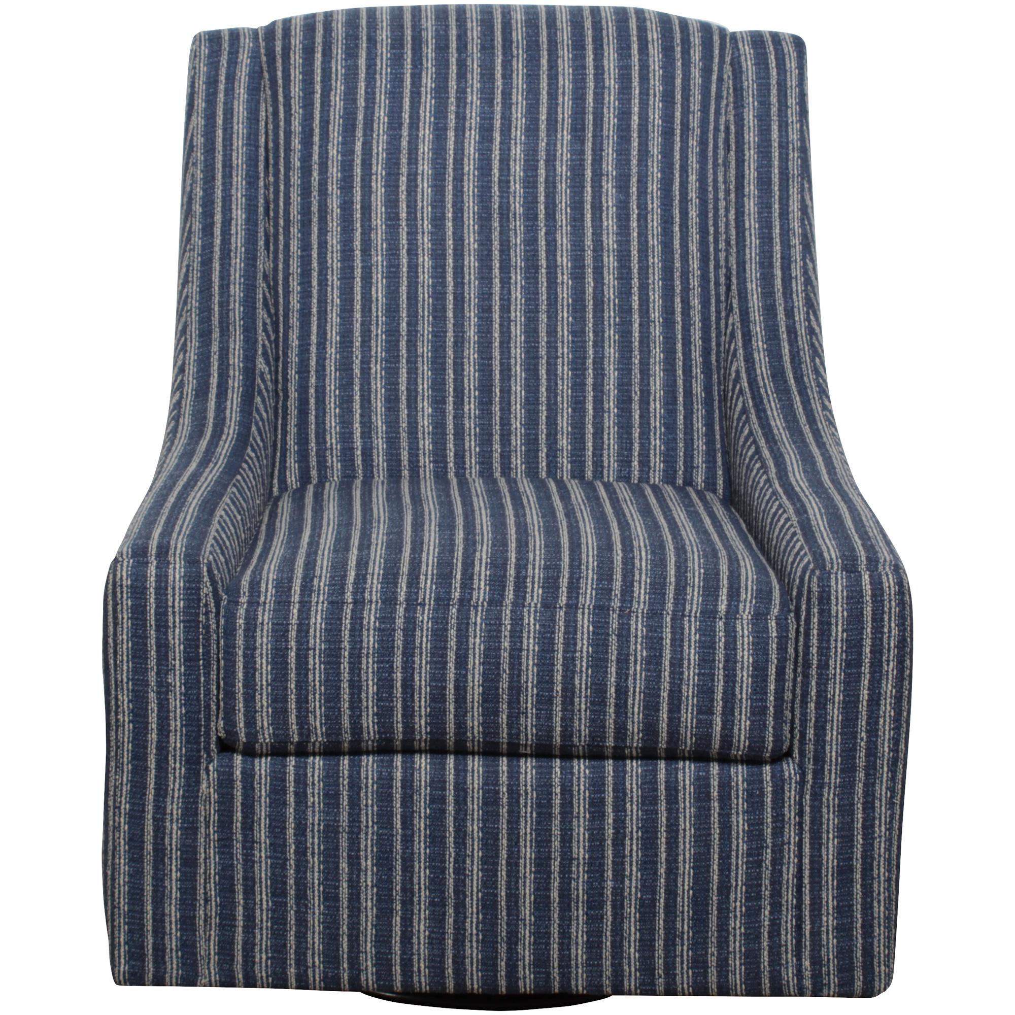 Bauhaus Furniture   Maren Blue Swivel Accent Chair