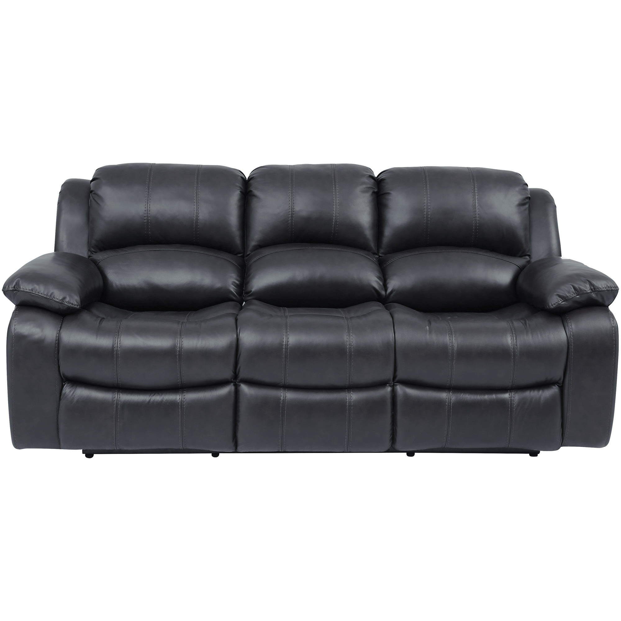 Wah Cheers | Ender Gray Leather Reclining Sofa