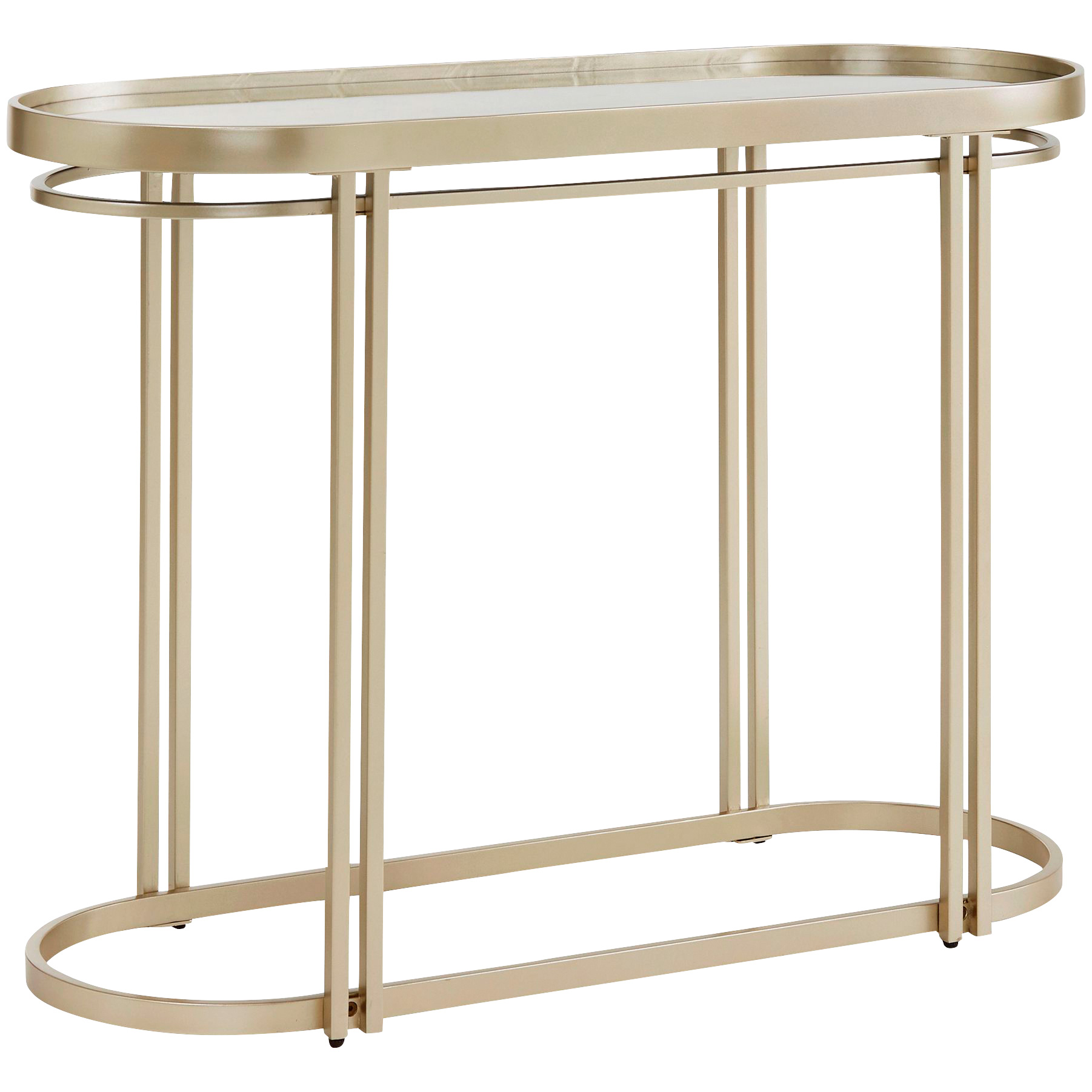 Top Line | Callie Champagne Silver Sofa Table
