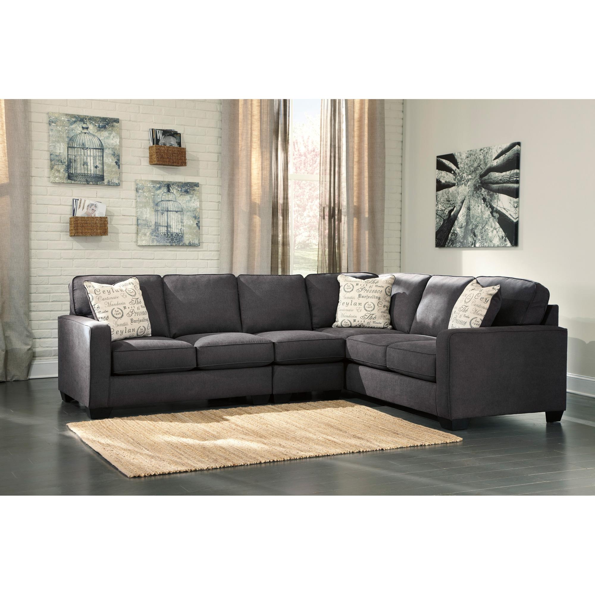 Ashley Furniture | Alenya Charcoal 3 Piece Left Sectional Sofa