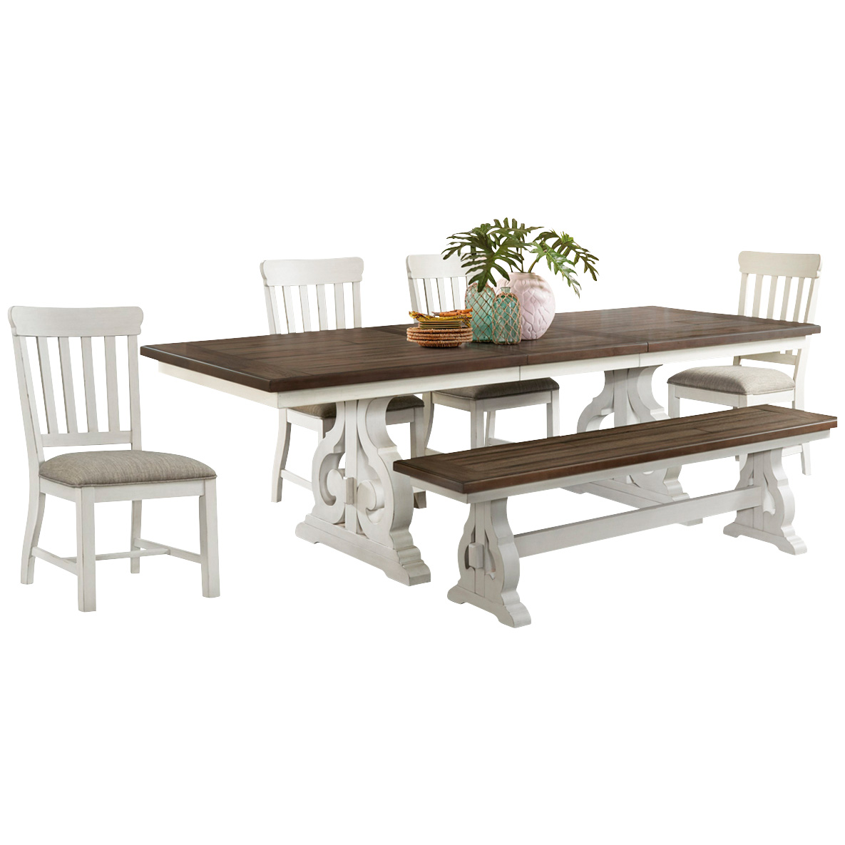 Intercon | Drake White 5 Piece Dining Set