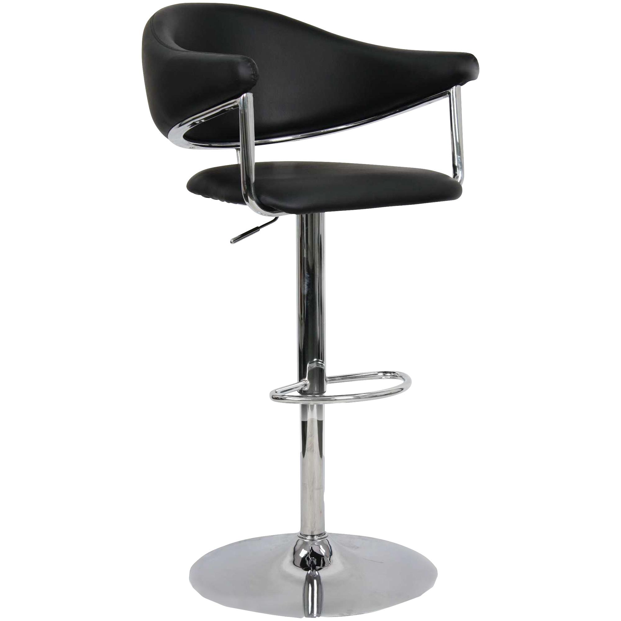 Whalen Furniture | Airstream Black Adjustable Stool