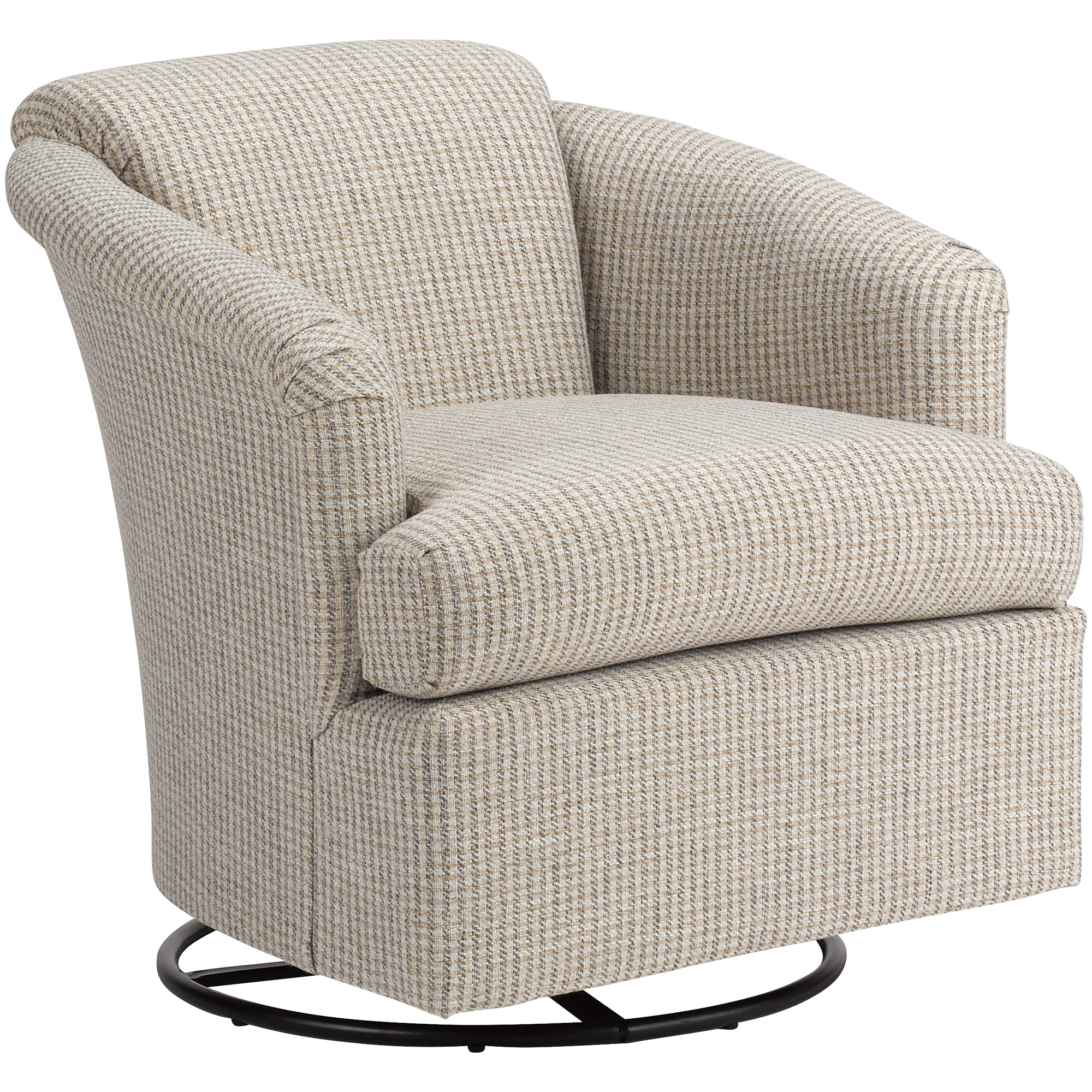 Best Home Furnishings | Cass Graphite Swivel Glider Accent Chair