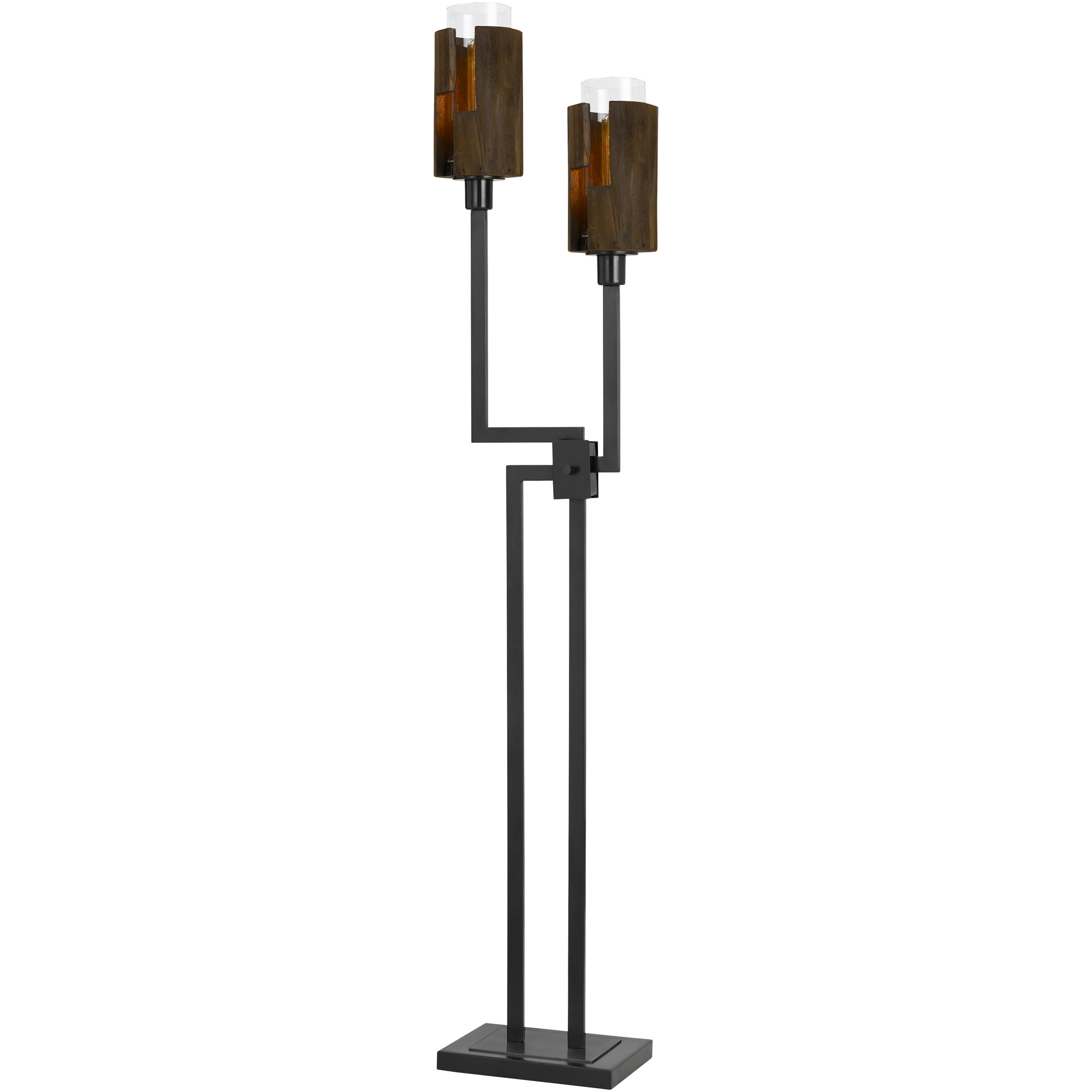 Cal Lighting | Bradford Brown Floor Lamp