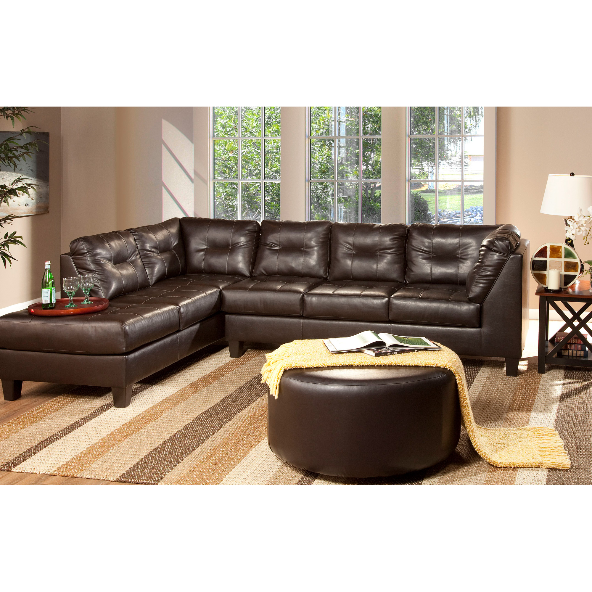 Serta Upholstery By Hughes Furniture | Broset San Marino Chocolate Left Chaise Sofa