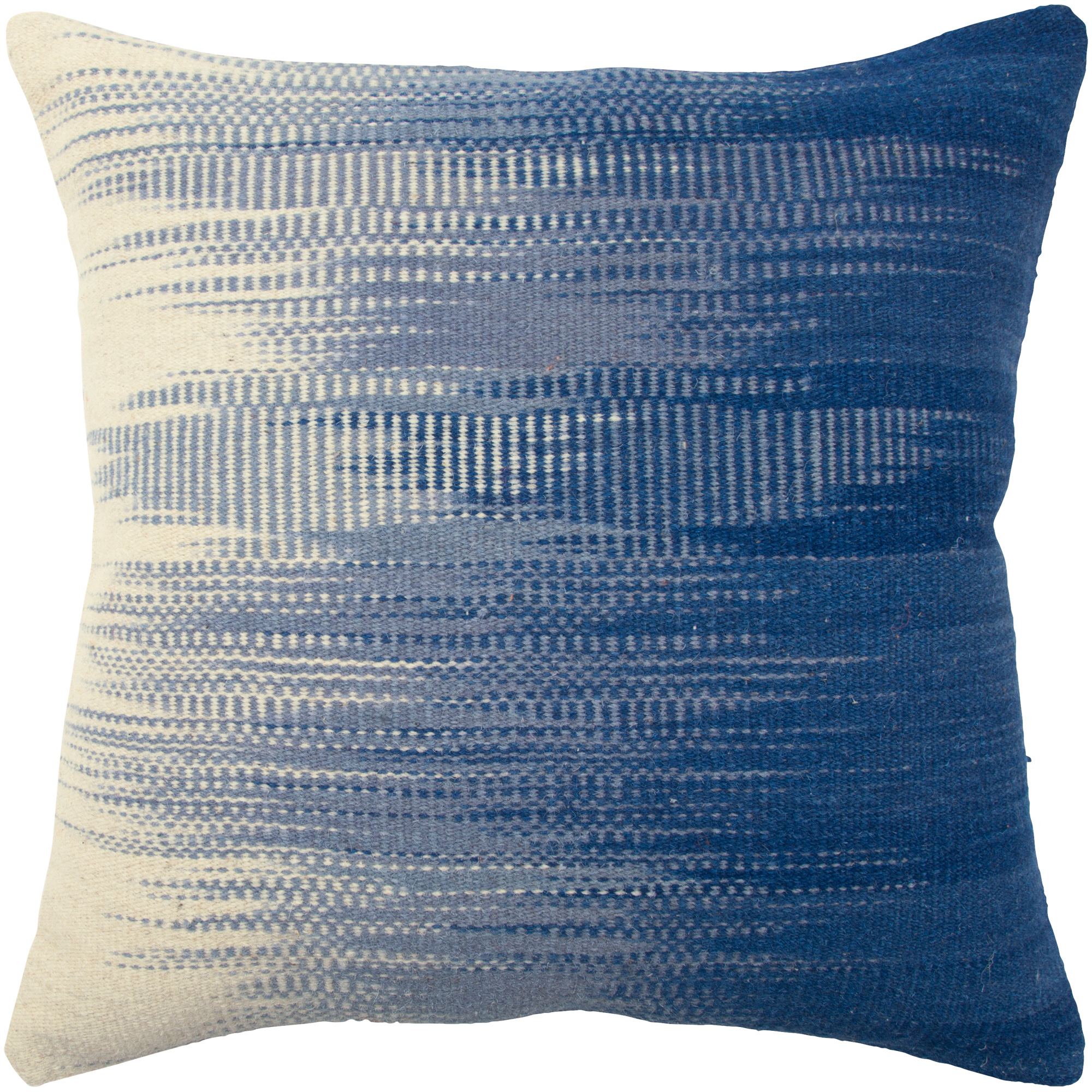 Rizzy Home | Aztec Blue and White Fade Down Pillow