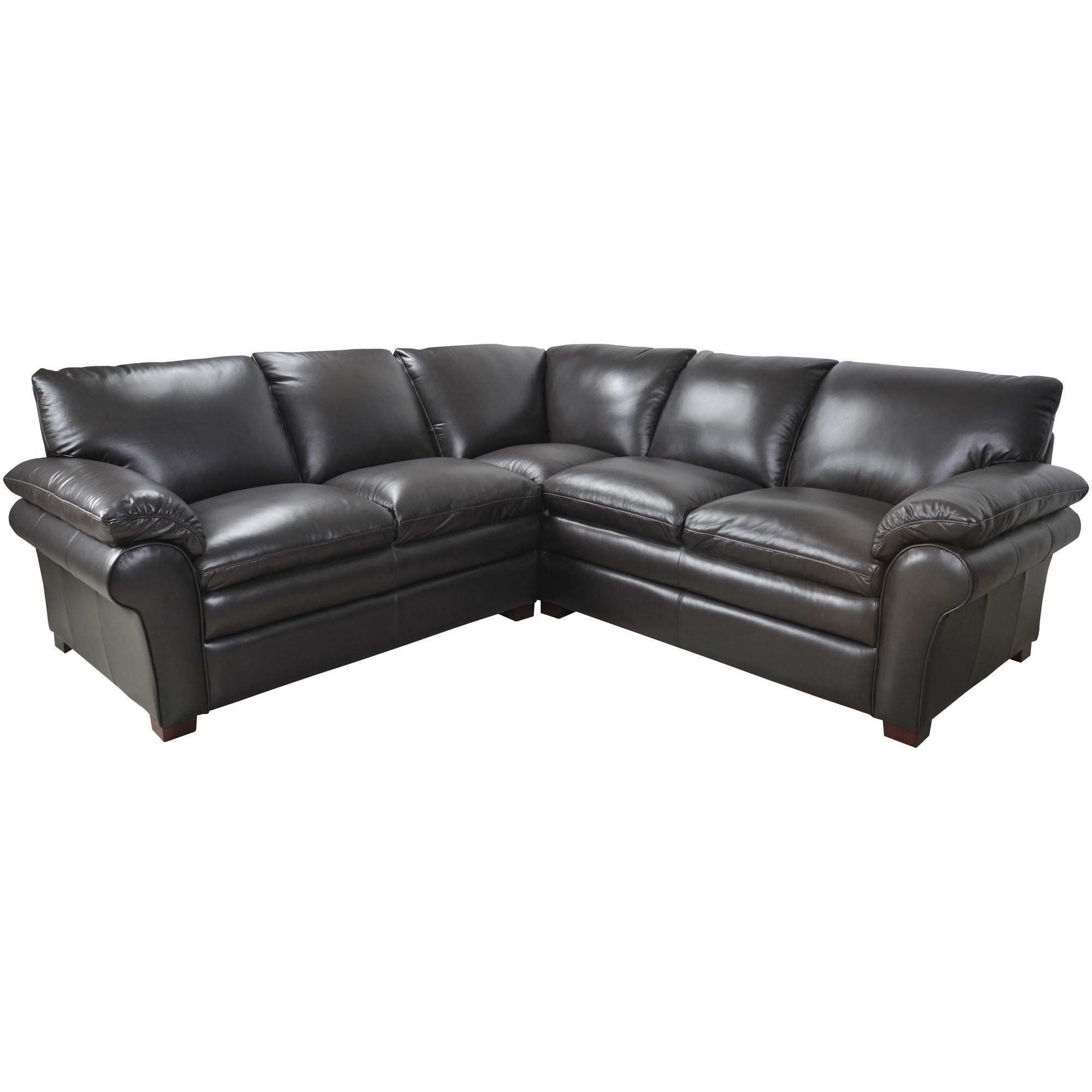 Futura Leather | Moldova Brown Left Arm Loveseat Sectional Sofa