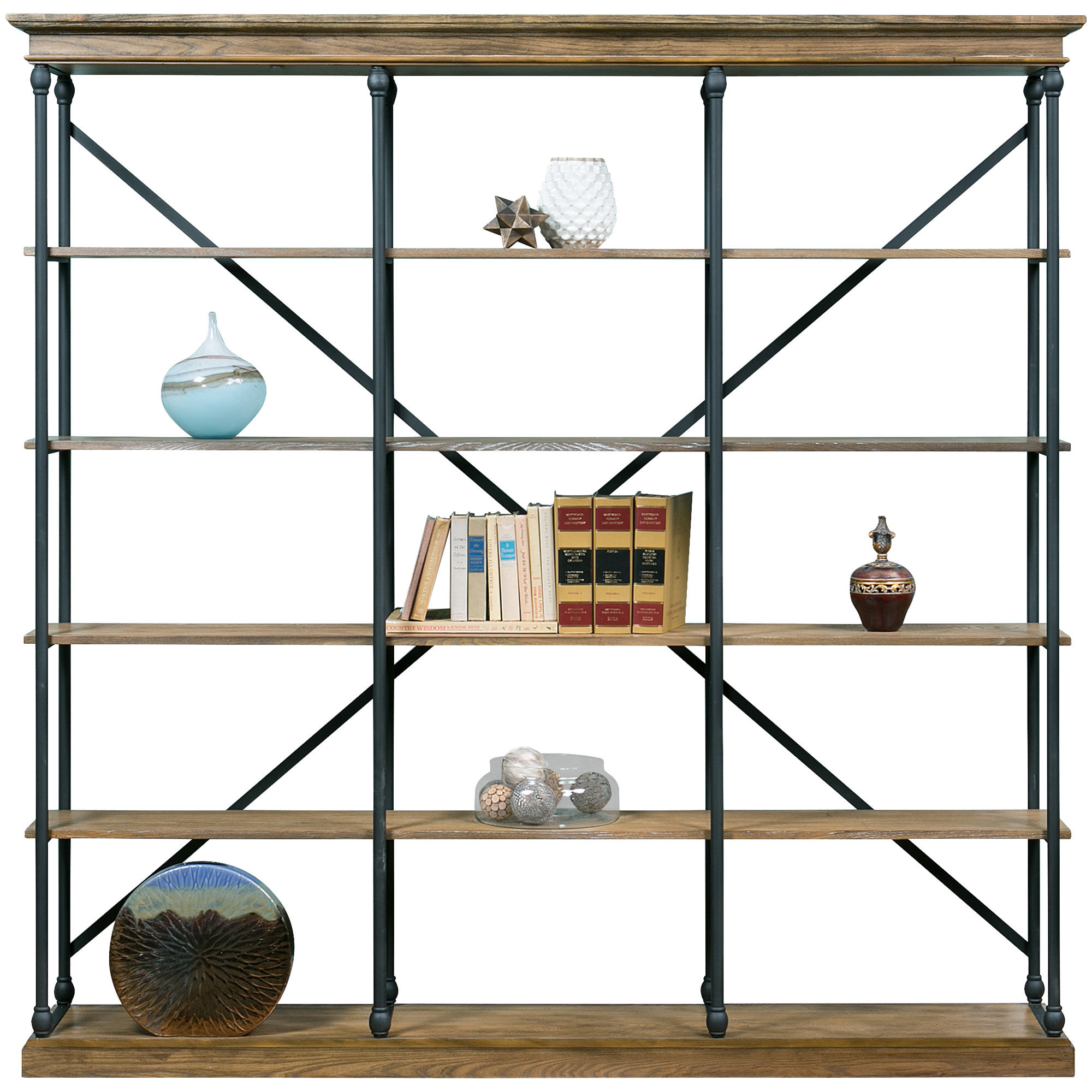 """Home Elegance | Auburn 84x84"""" Bookcase"""