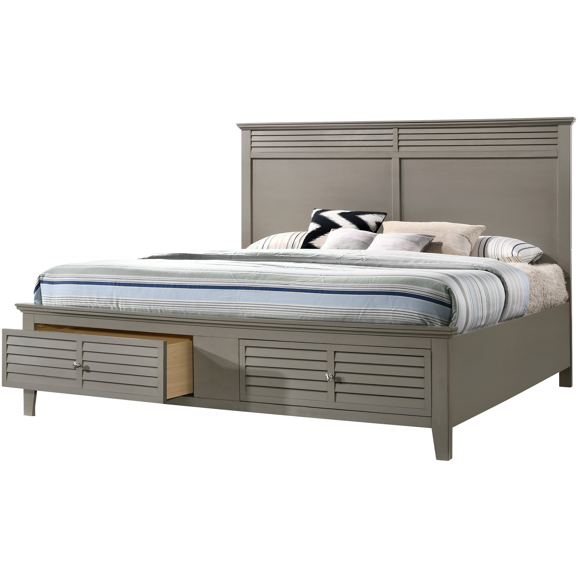 Lifestyle Enterprise | Del Mar Gray Queen Storage Bed