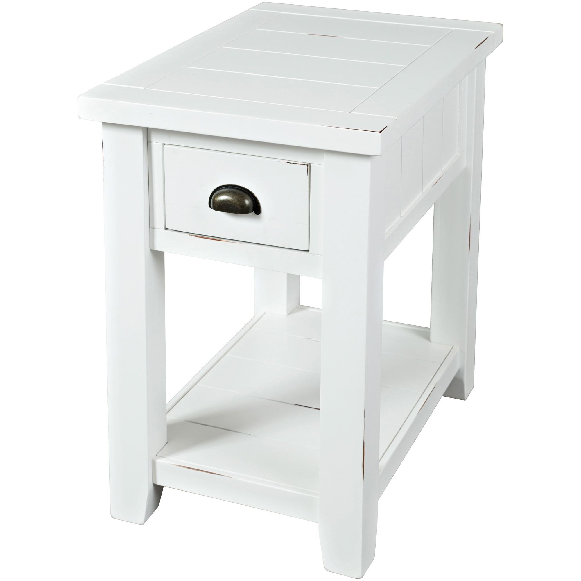 Jofran | Artisans Craft White Chairside Table