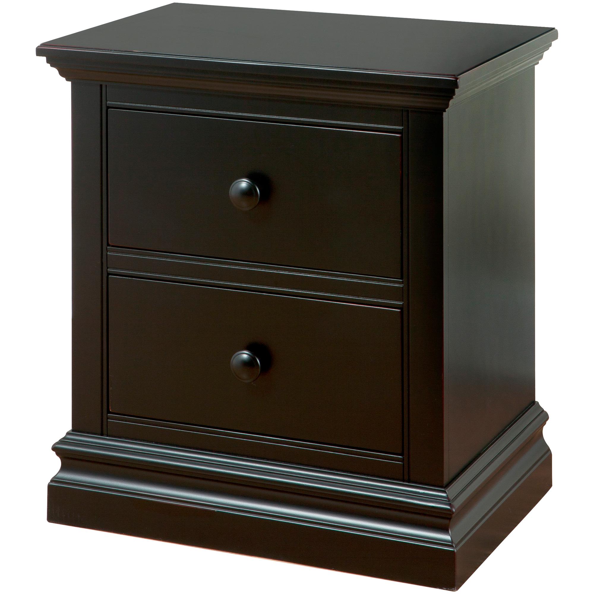 Westwood Design | Pine Ridge Black 2 Drawer Nightstand