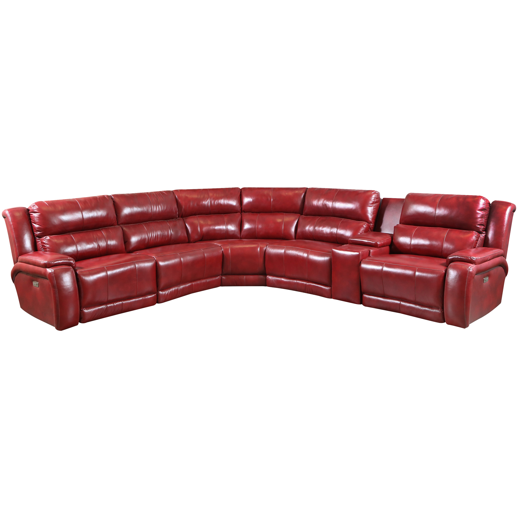 Southern Motion | Marquis Leather Marsala 6 Piece Power+ Next Level Recliner Sectional Sofa