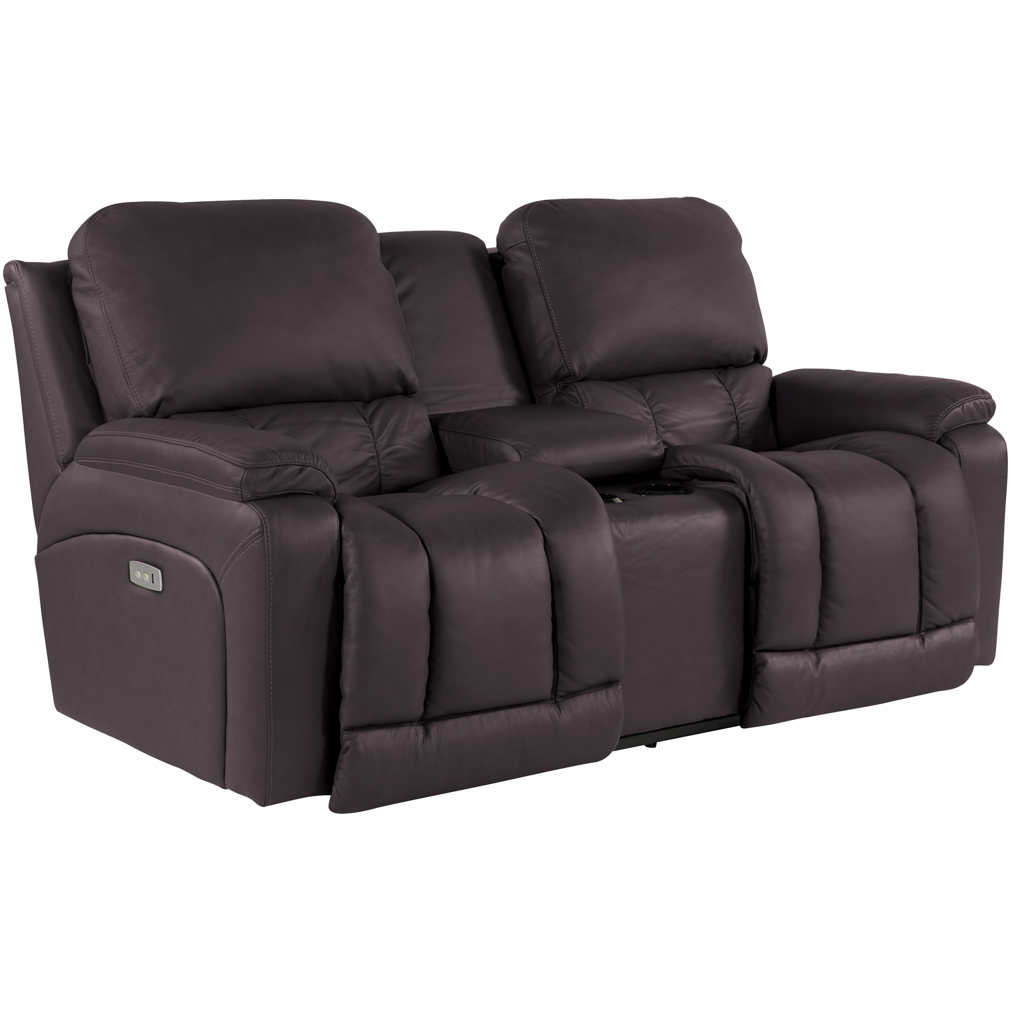 La-Z-Boy | Greyson Chocolate Power Reclining Console Loveseat Sofa