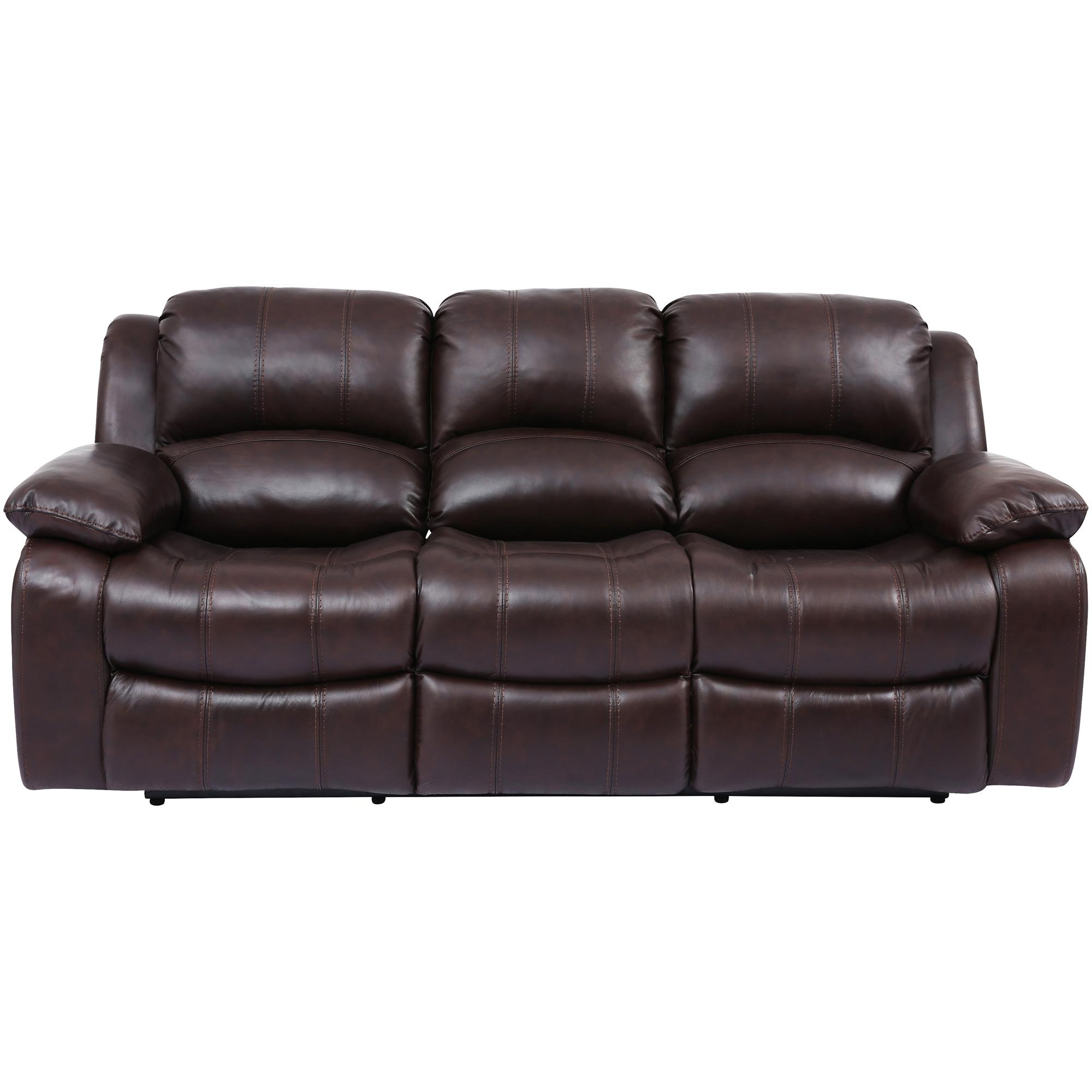 Wah Cheers | Ender Brown Leather Power+ Reclining Sofa