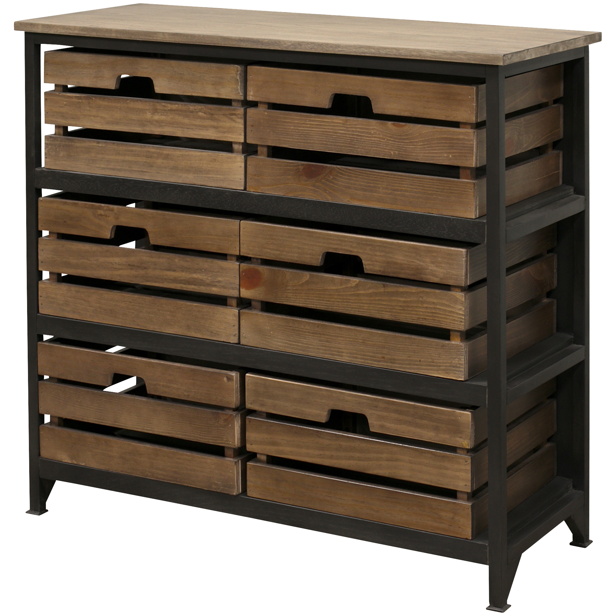 Martin Furniture | Sullivan Brown Large Crate Storage Chest