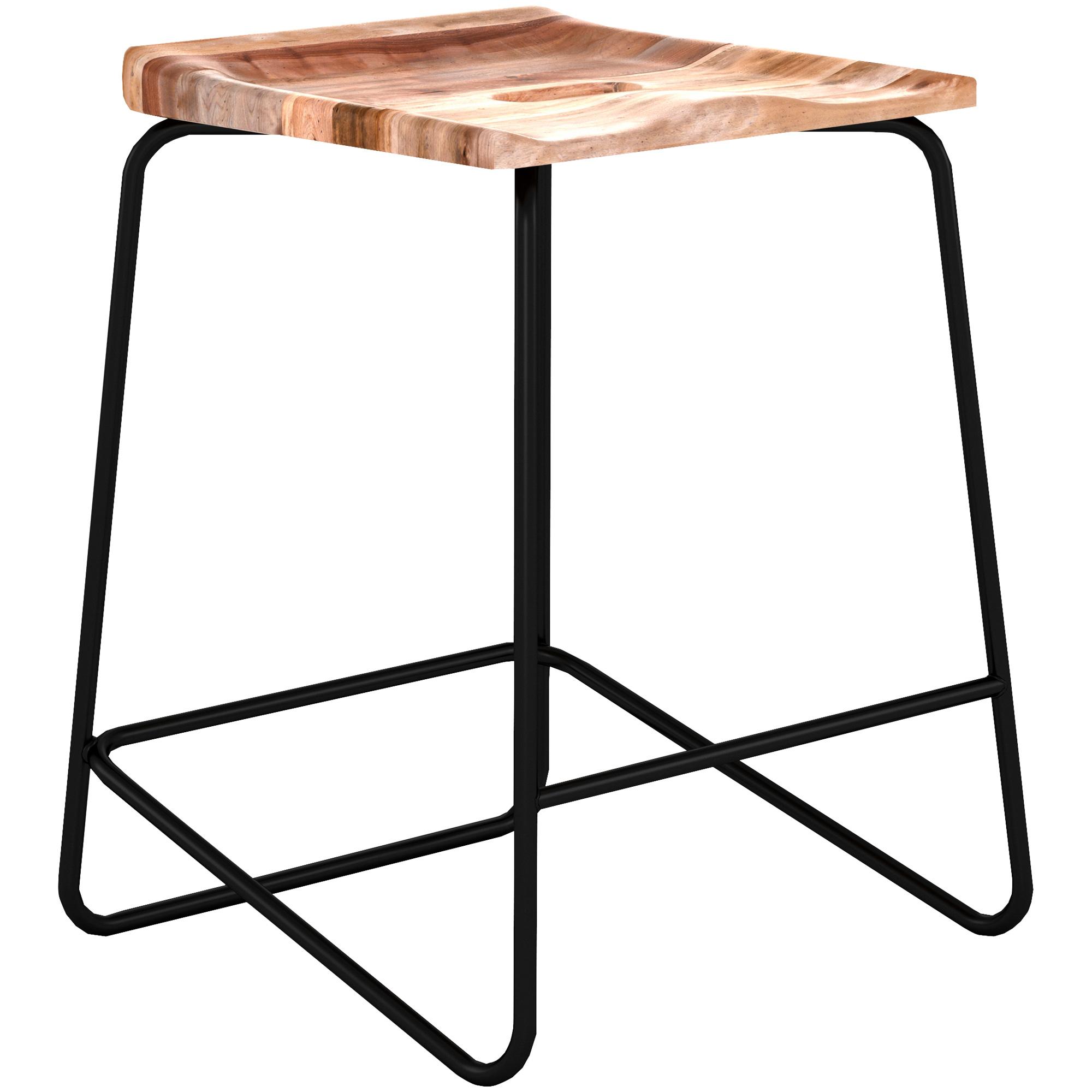 """Canadel Furniture | Knox Natural 24"""" Backless Stool"""