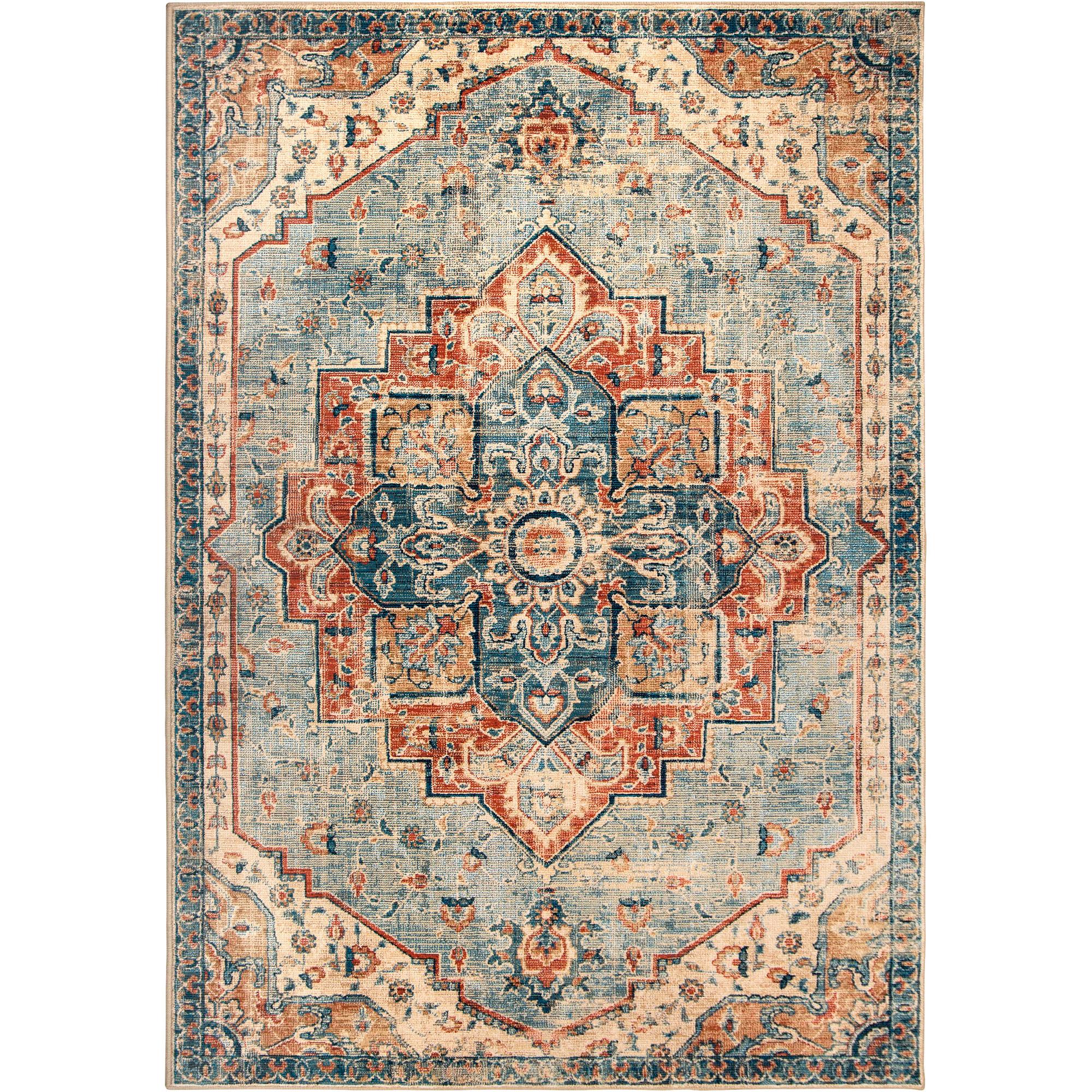 Orian | Alexandria King Fisher Pale Blue 7x10 Area Rug
